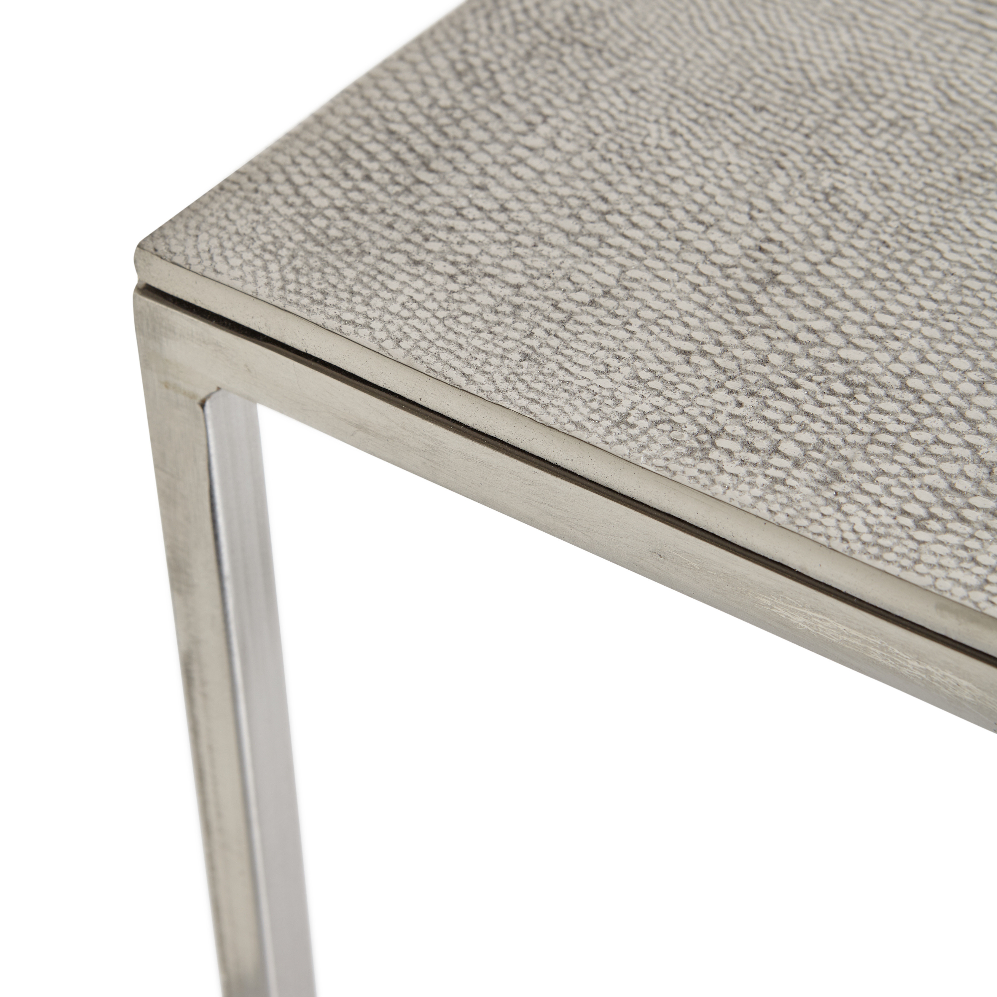 Coffee table in metallo cromato Snake, Grigio, large image number 2
