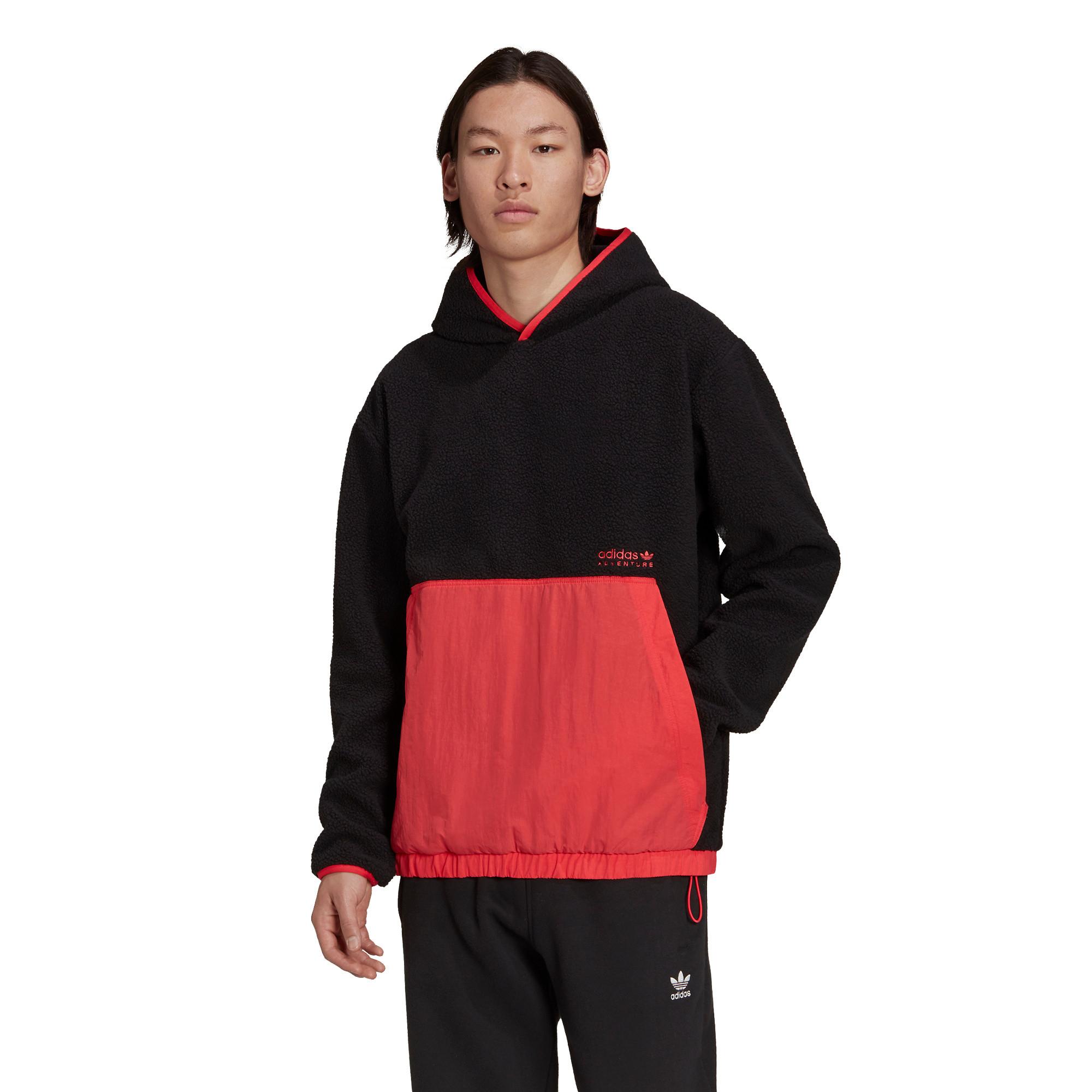 Felpa con cappuccio adidas Adventure Polar Fleece, Nero, large image number 3
