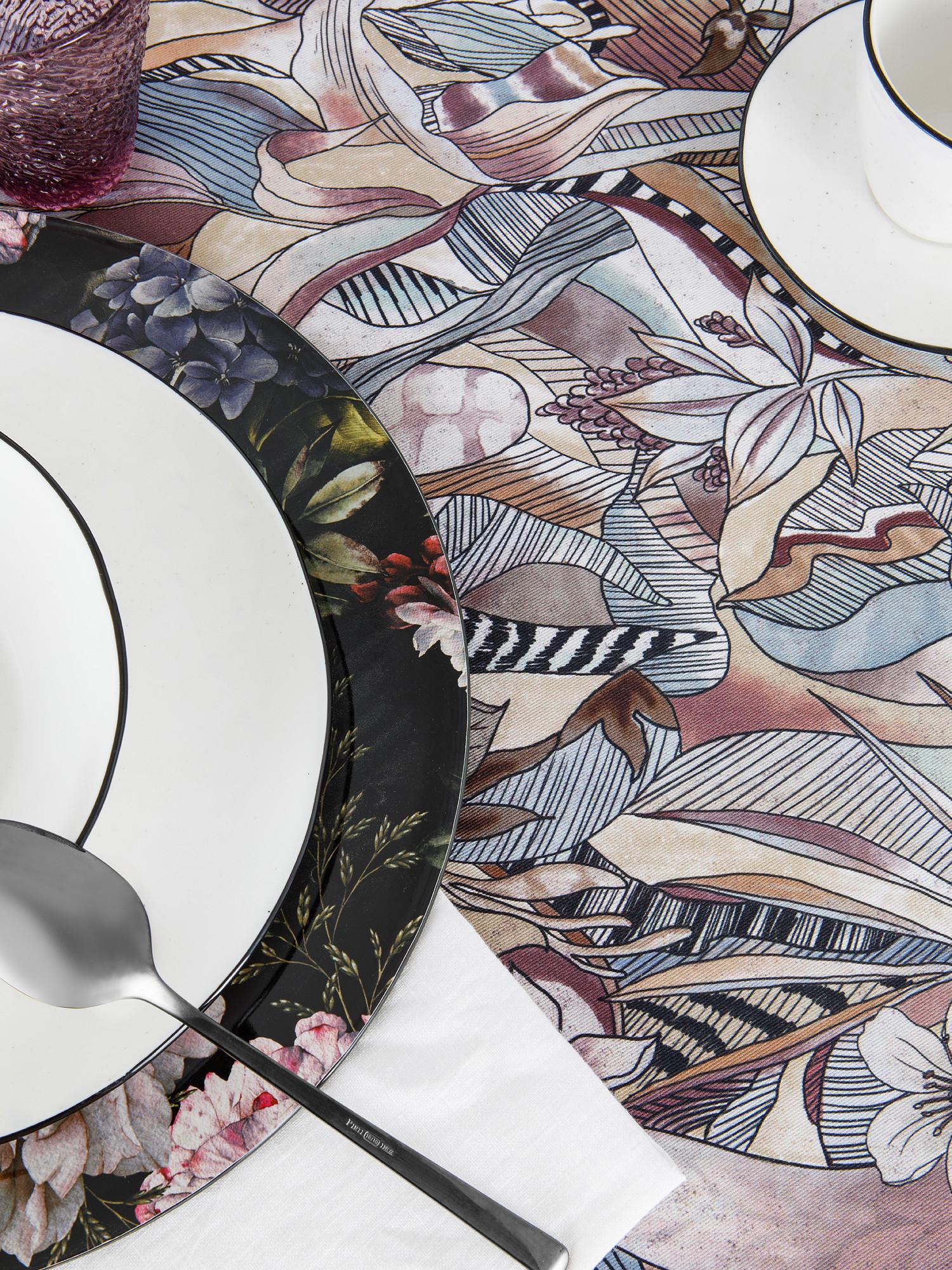 Tovaglia puro cotone stampa batik, Grigio, large image number 2