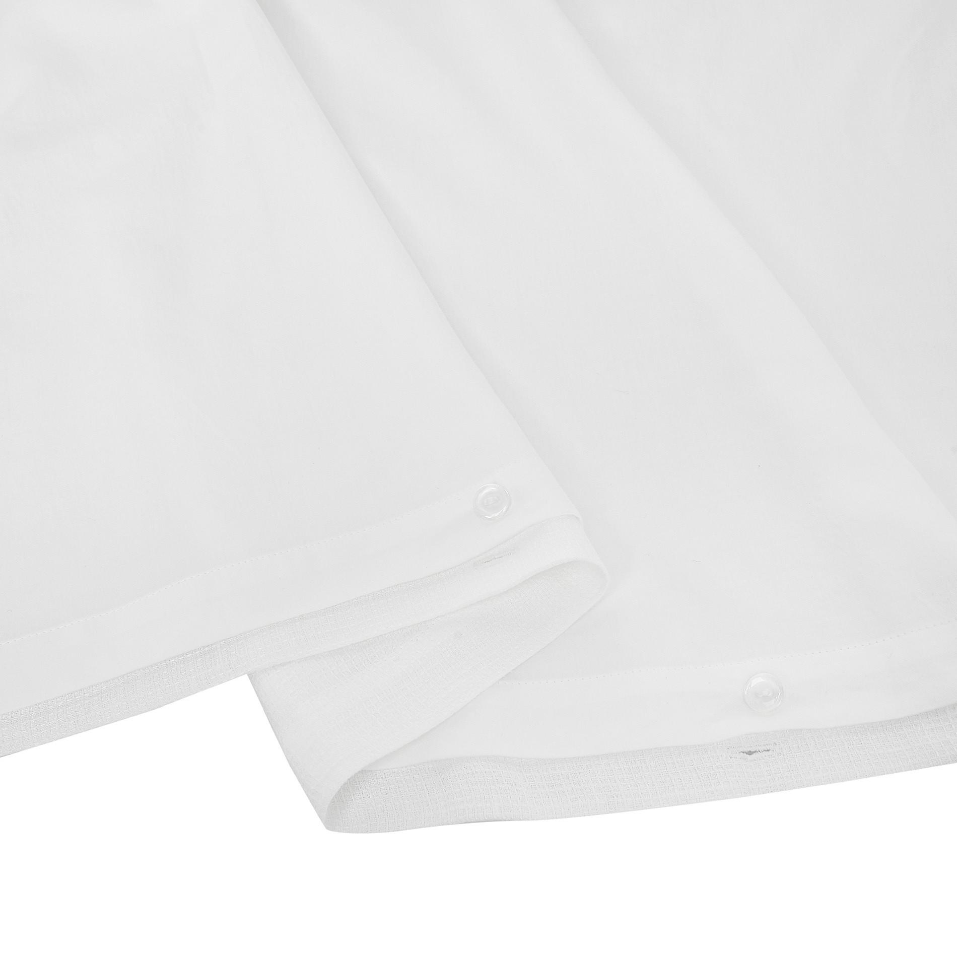 Copripiumino lino piquet tinta unita, Bianco, large image number 3