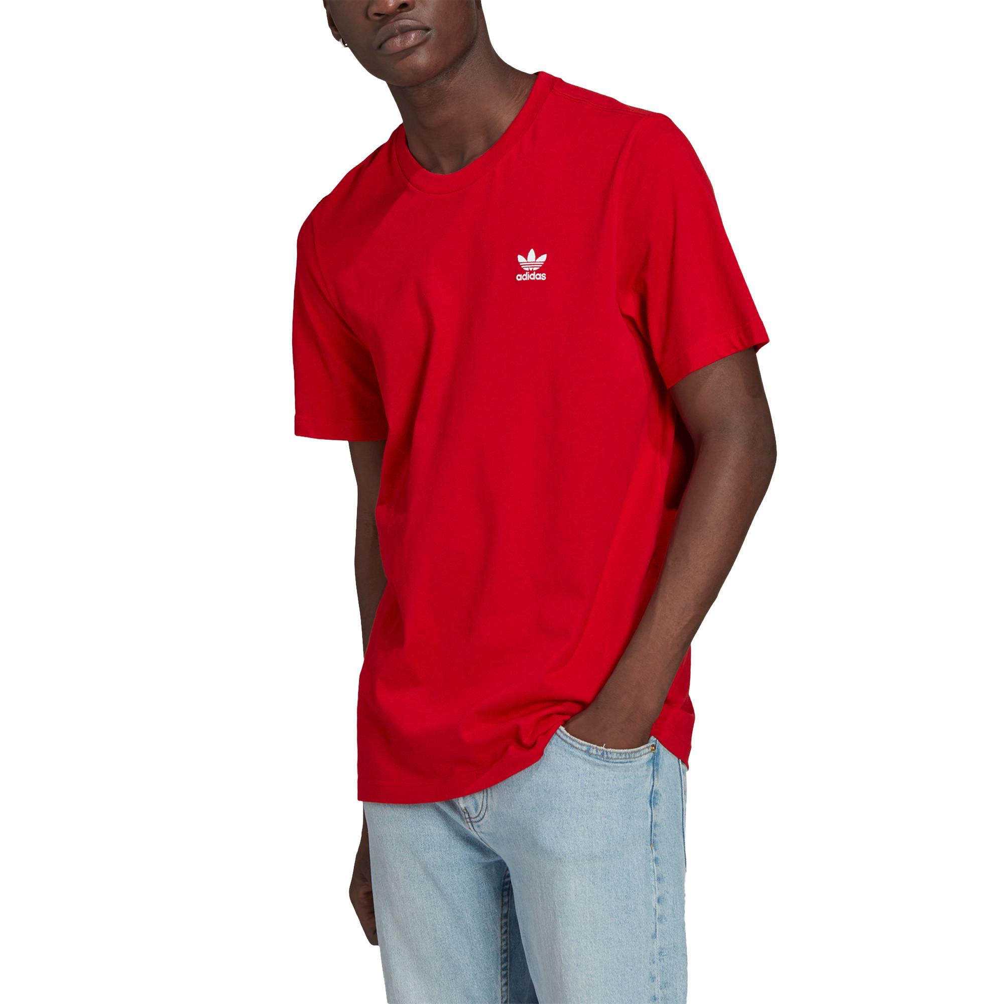 T-shirt loungewear adicolor trefoil essentials, Rosso, large image number 3