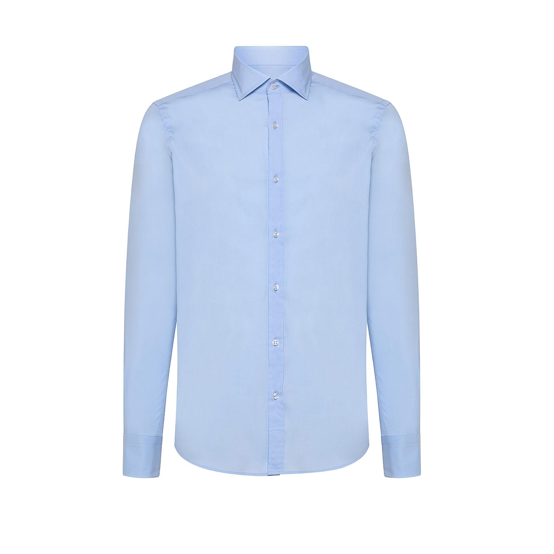 Camicia button-down popeline di cotone, Azzurro, large image number 0