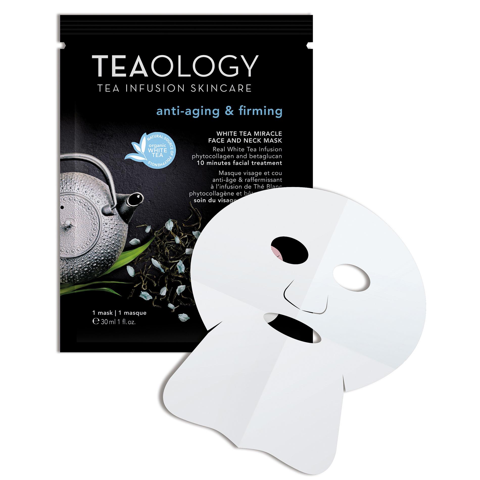 White Tea Miracle Maschera Viso e Collo Anti-aging  30 ml, Nero, large image number 1