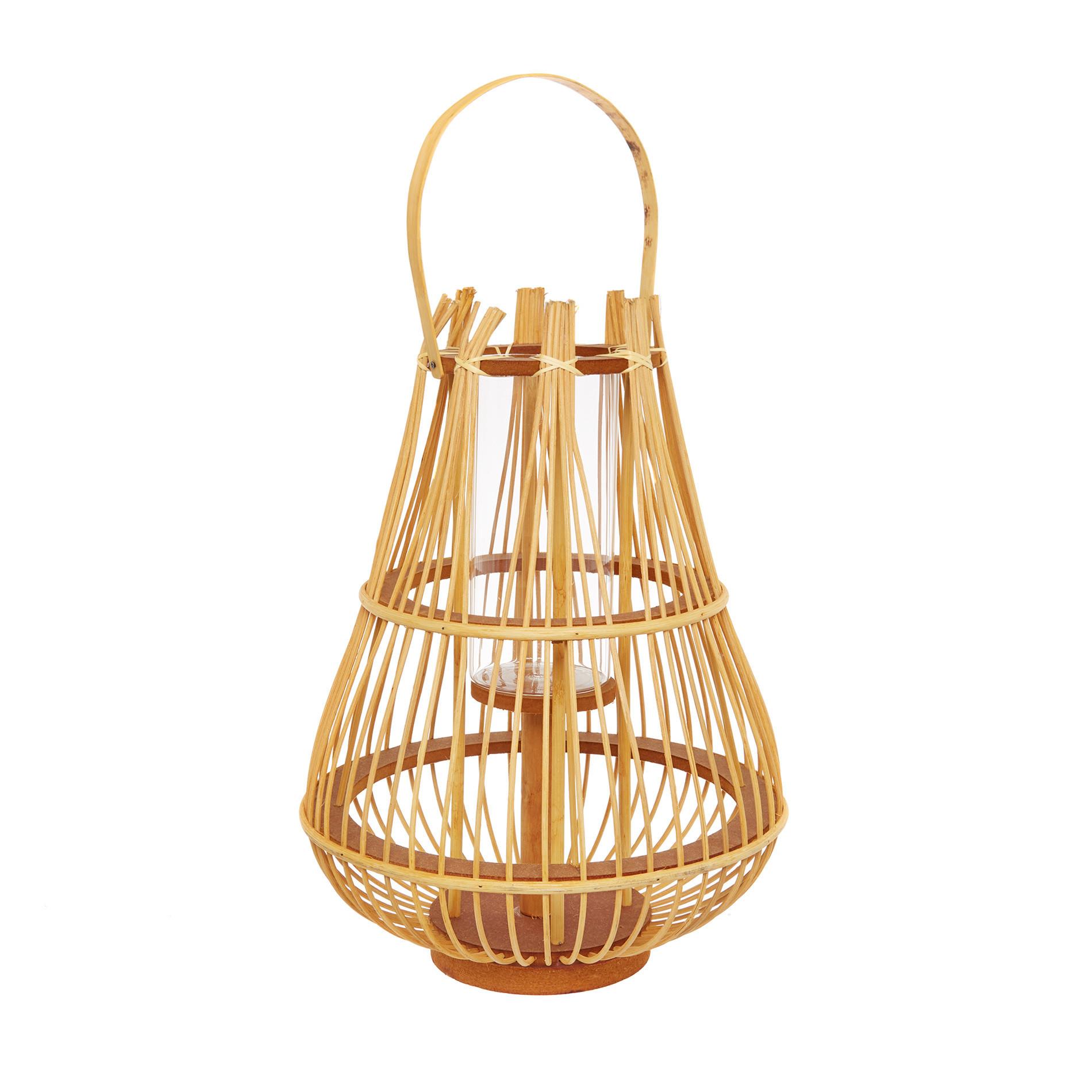 Lanterna bamboo intrecciato a mano, Trasparente, large image number 0