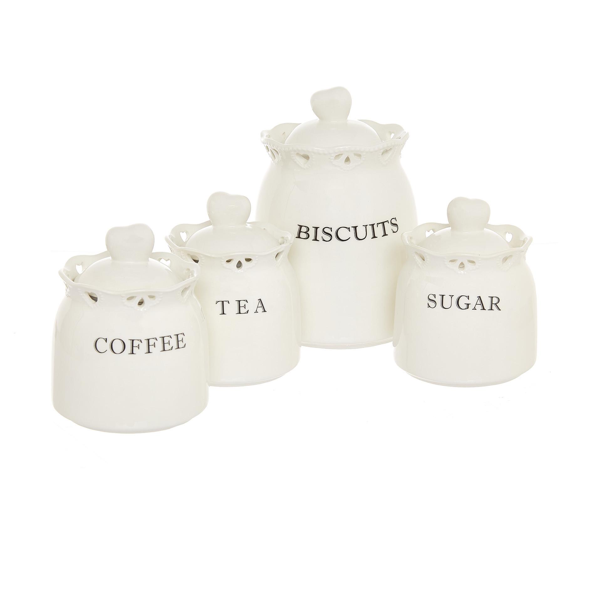 Barattolo tea ceramica traforata, Bianco, large image number 2