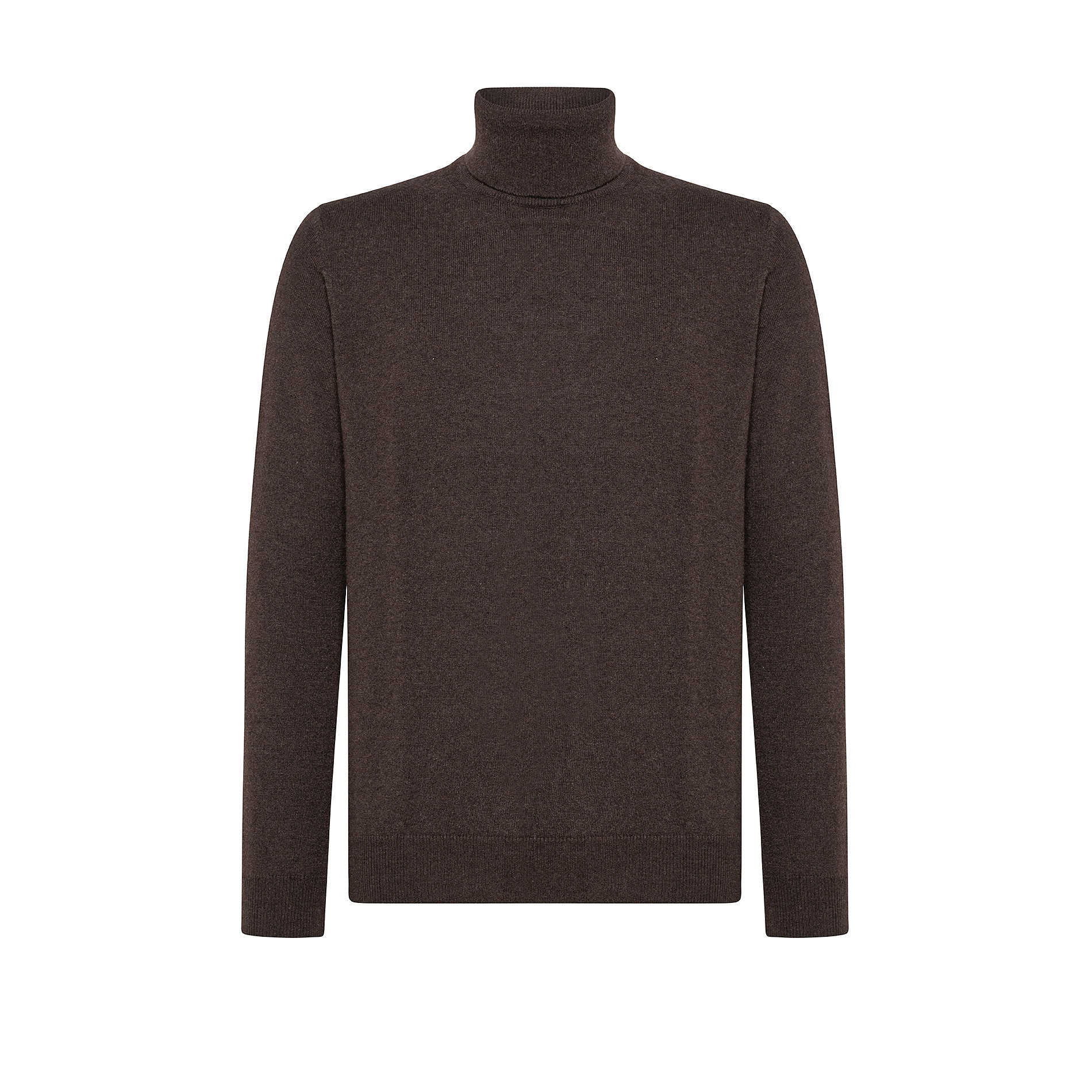 Pullover collo alto in cashmere blend, Marrone, large image number 1
