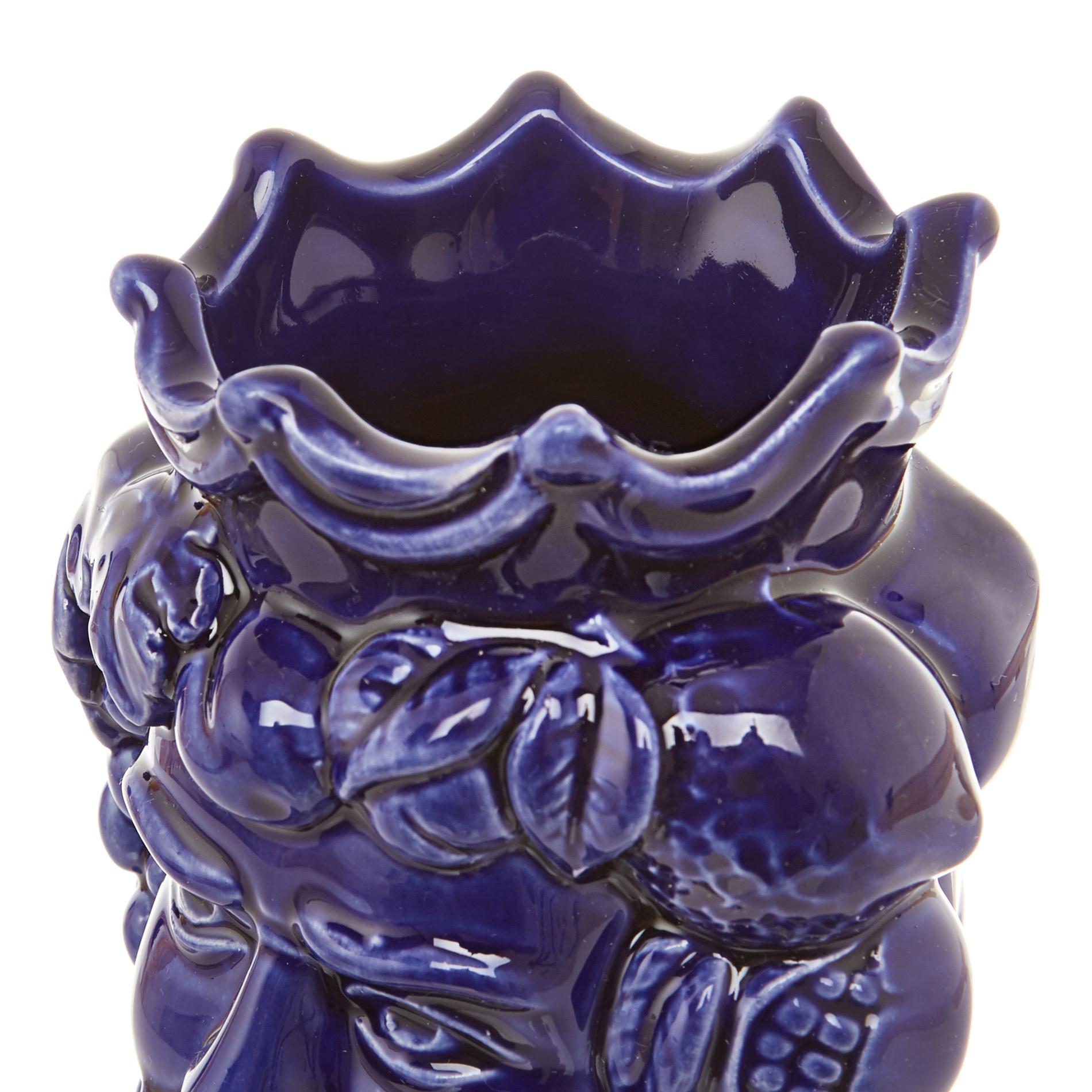 Testa di moro by Ceramiche Siciliane Ruggeri, Blu, large image number 4