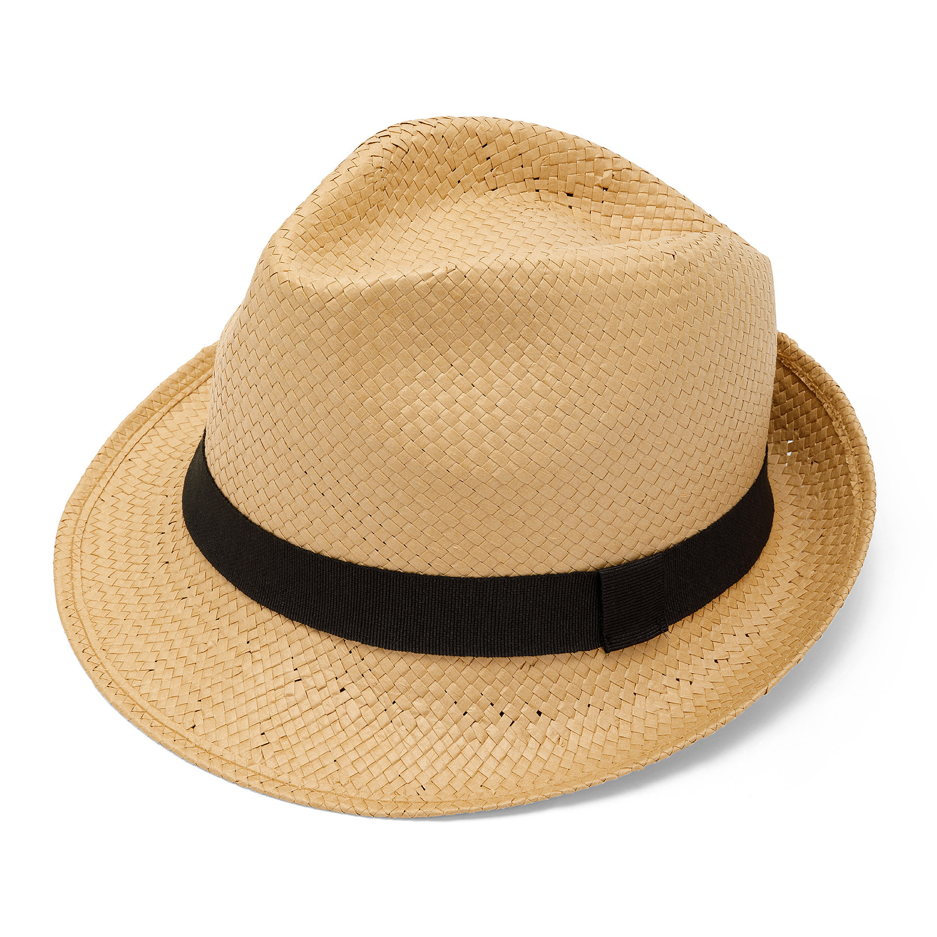 Cappello paglia intrecciata Luca D'Altieri, Beige, large image number 0