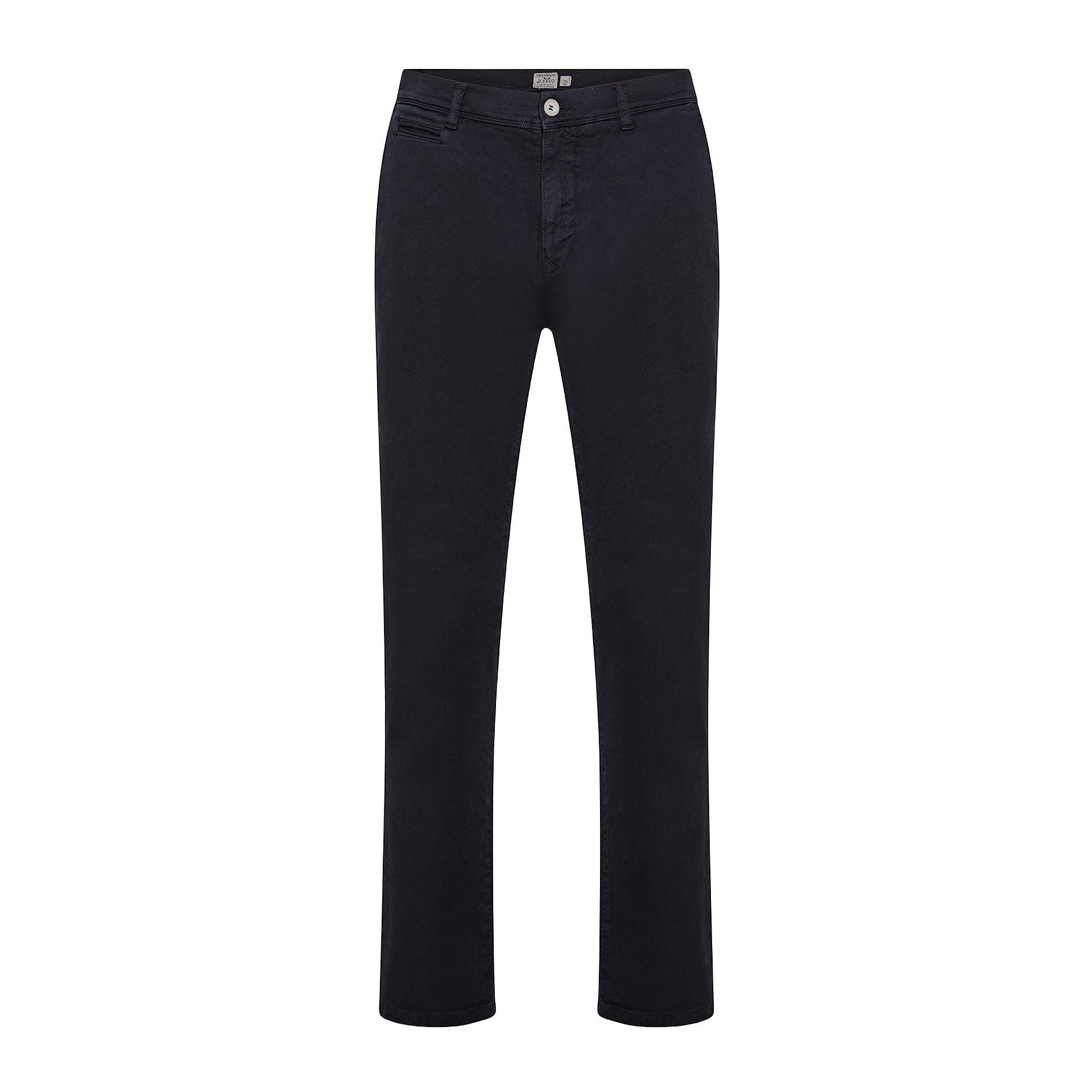 Pantalone chino gabardina stretch JCT, Blu, large image number 0