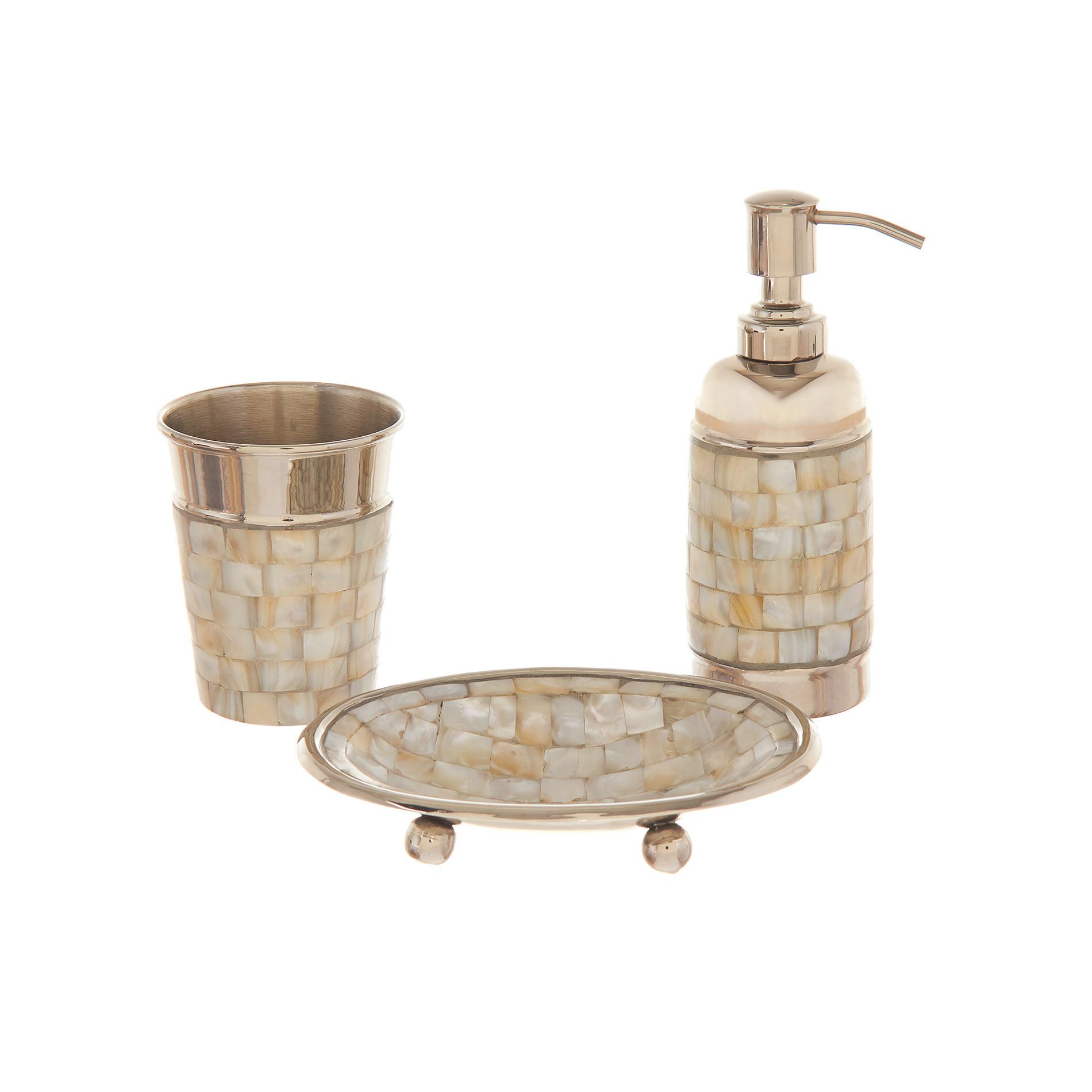 Dispenser madreperla mosaico, Marrone nocciola, large image number 1