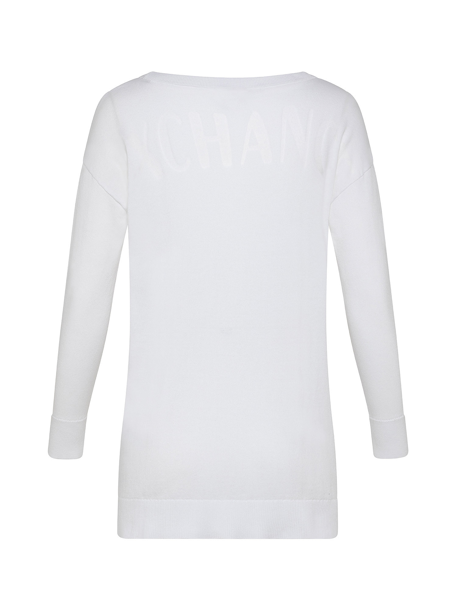 Maglione con logo, Bianco, large image number 1