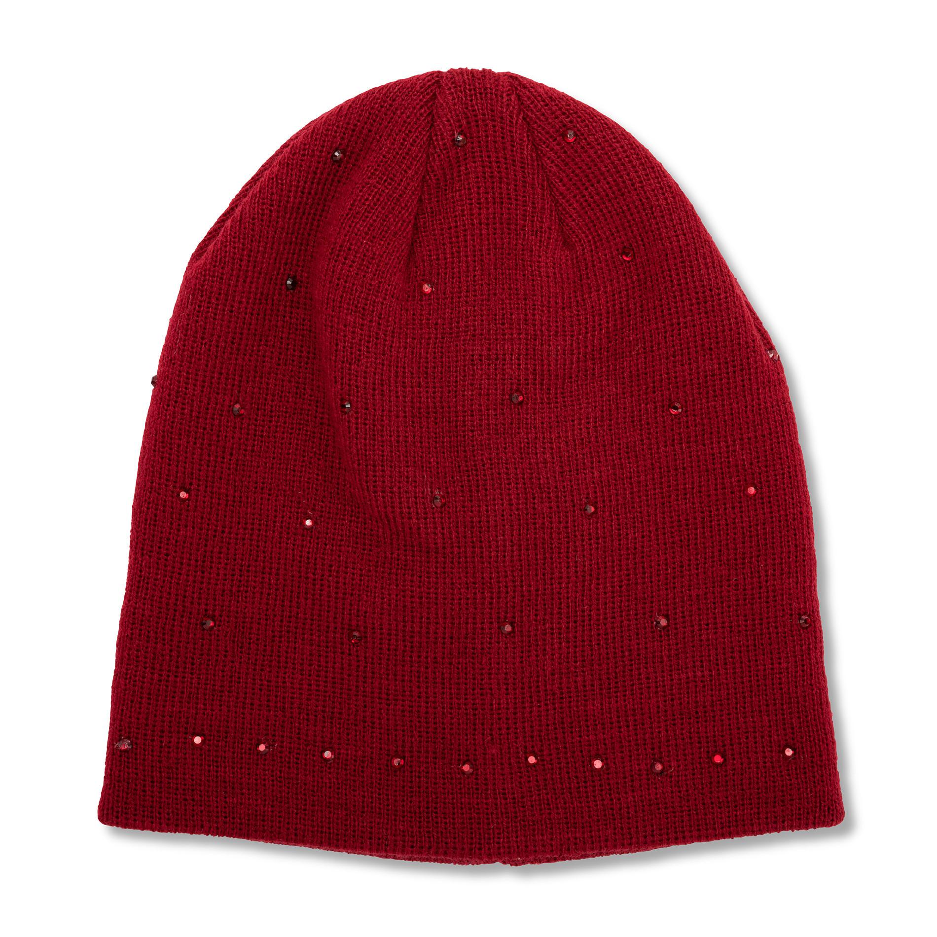 Berretto con strass Koan, Rosso scuro, large image number 0