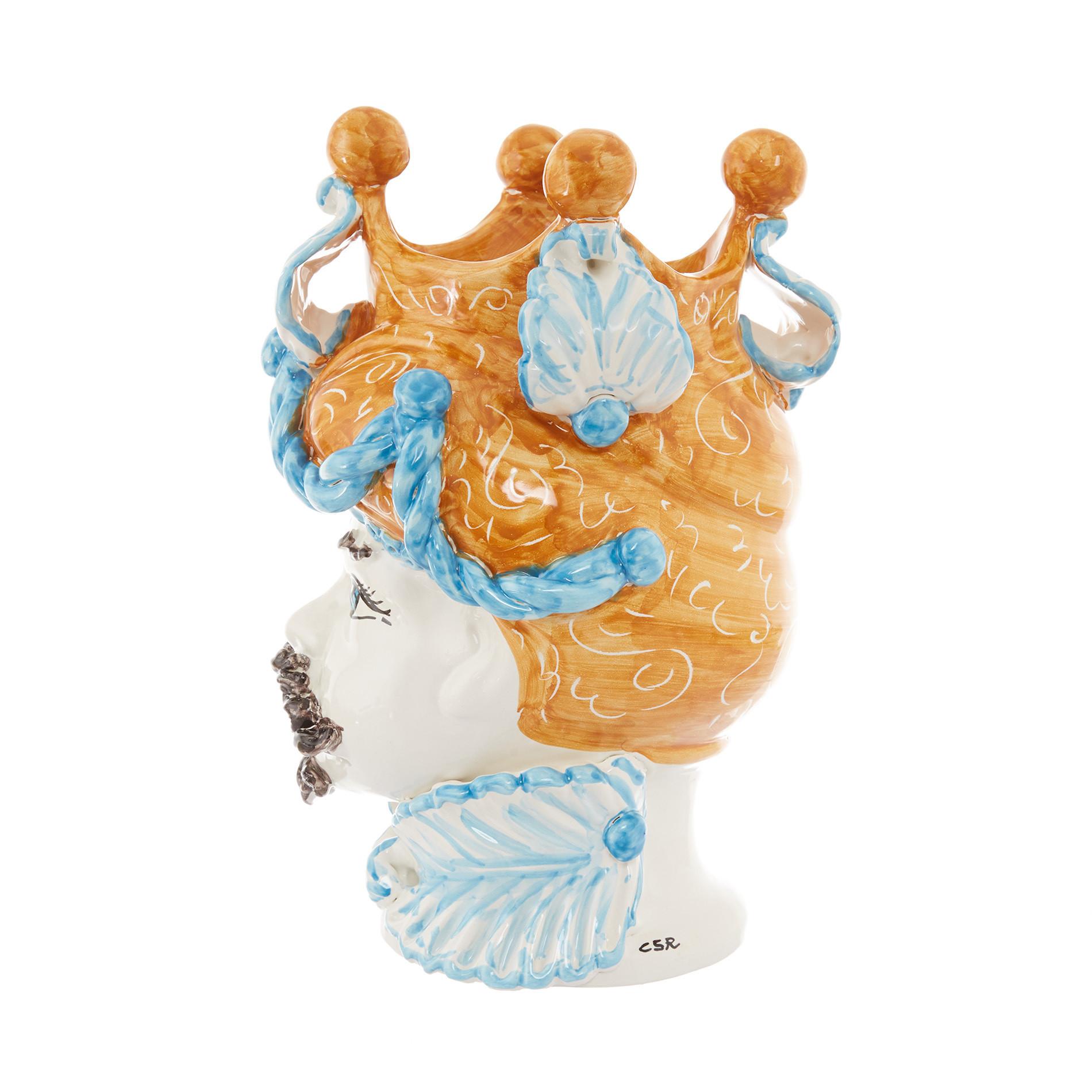 Testa di moro arabesque by Ceramiche Siciliane Ruggeri, Multicolor, large image number 2