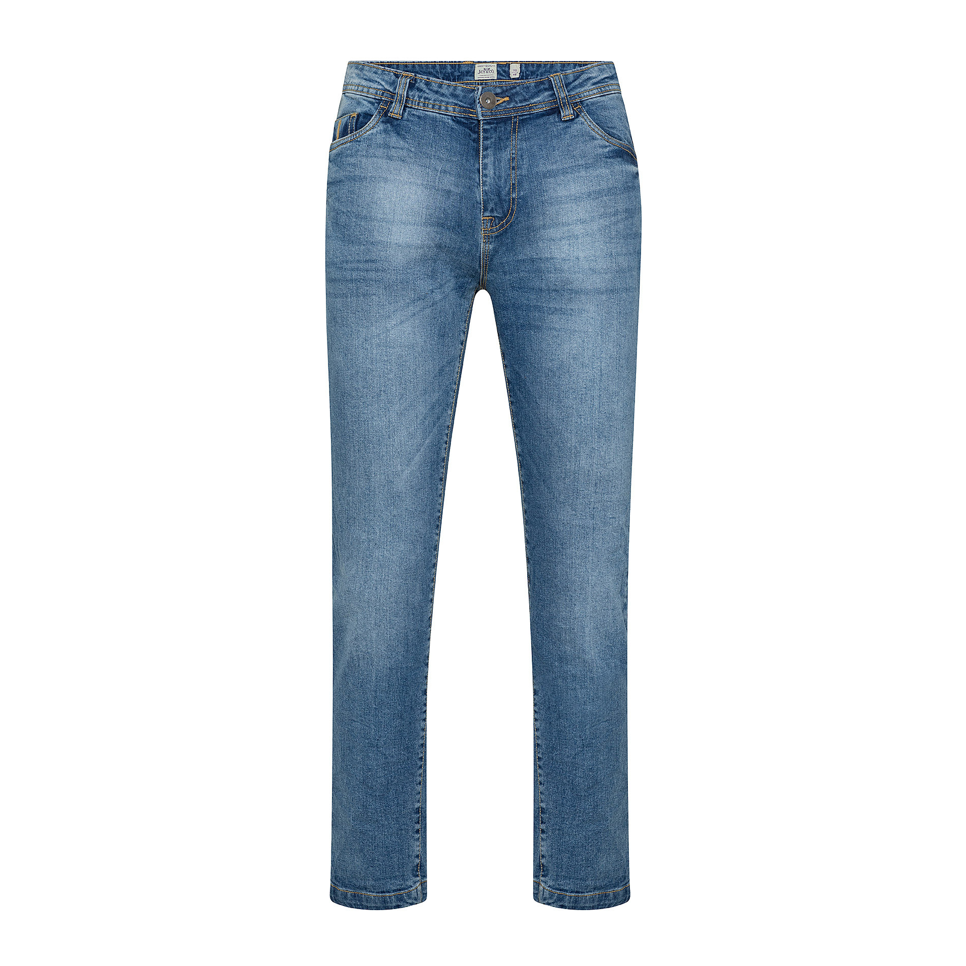 Jeans stretch 5 tasche JCT, Azzurro, large image number 0