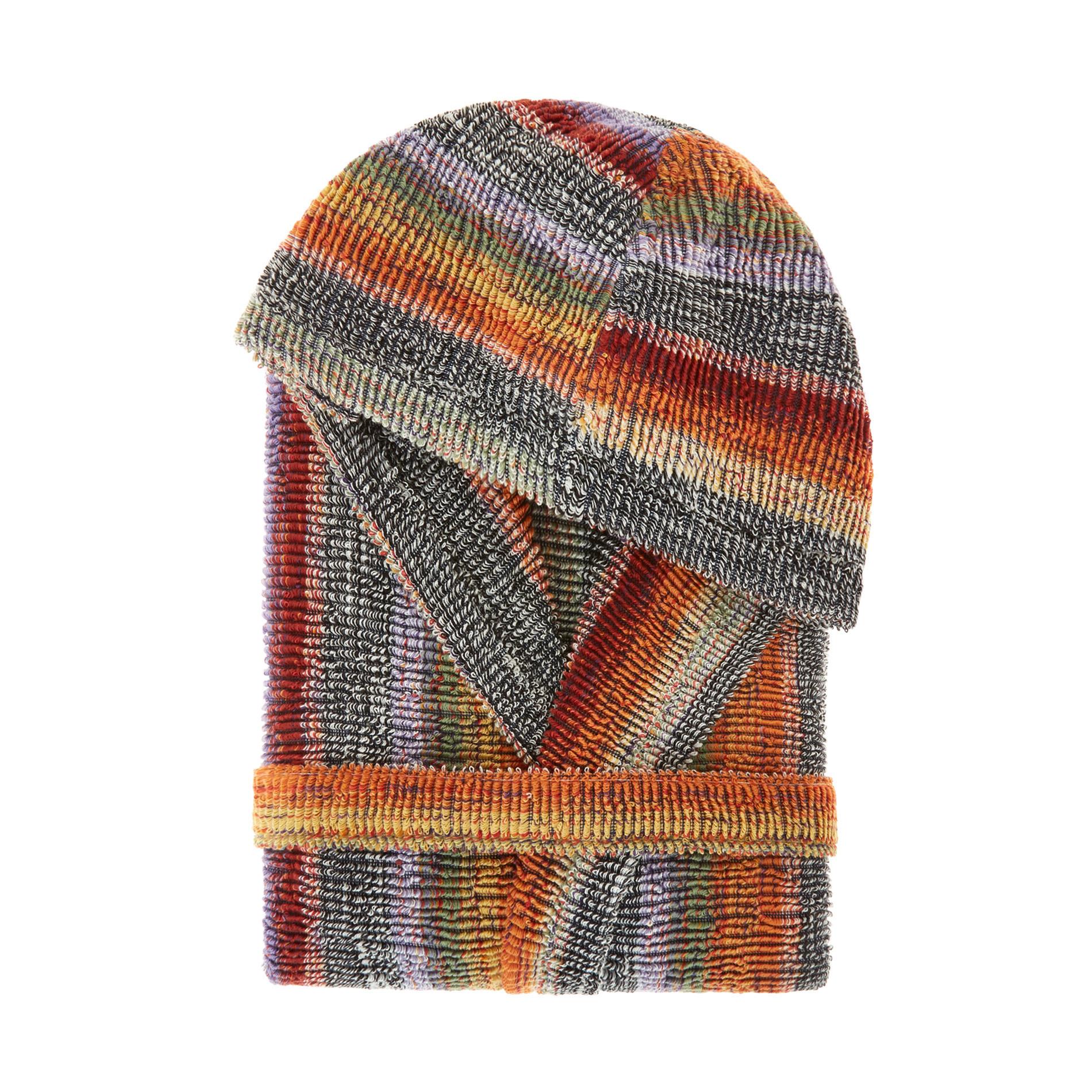 Accappatoio spugna di cotone a righe, Multicolor, large image number 0