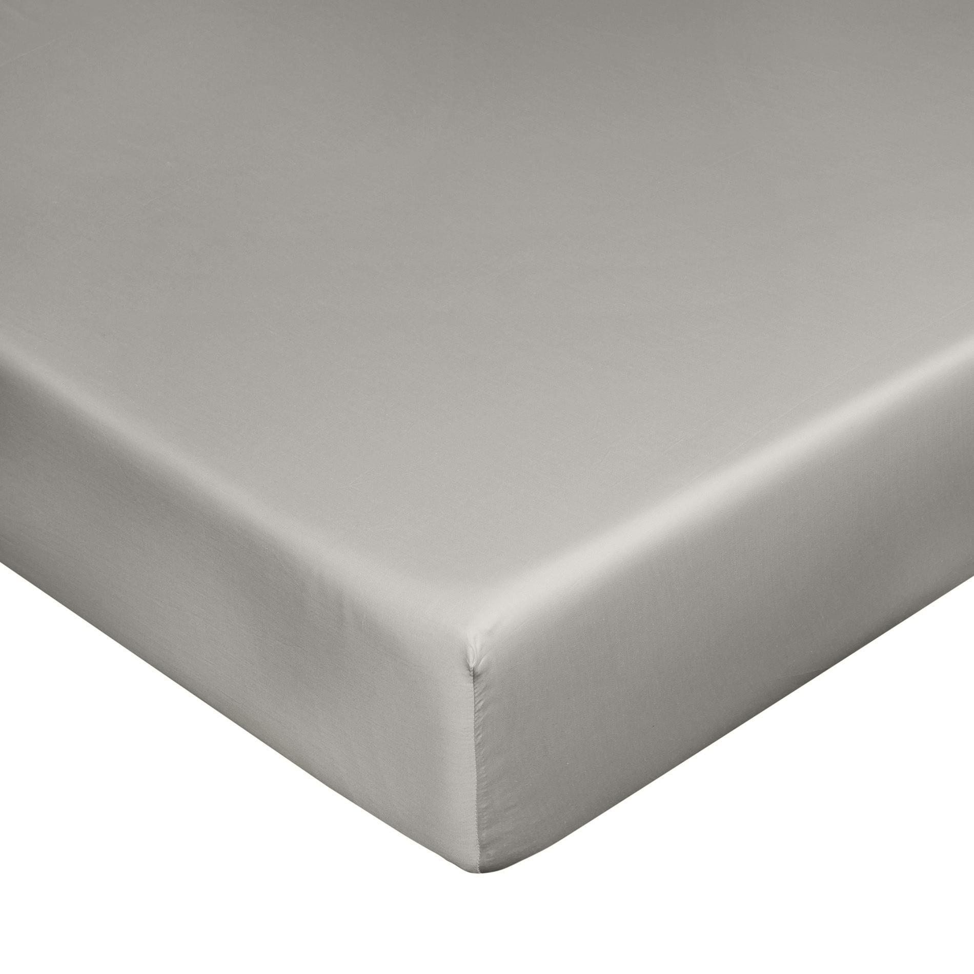 Lenzuolo con angoli raso di puro cotone Zefiro, Grigio, large image number 0