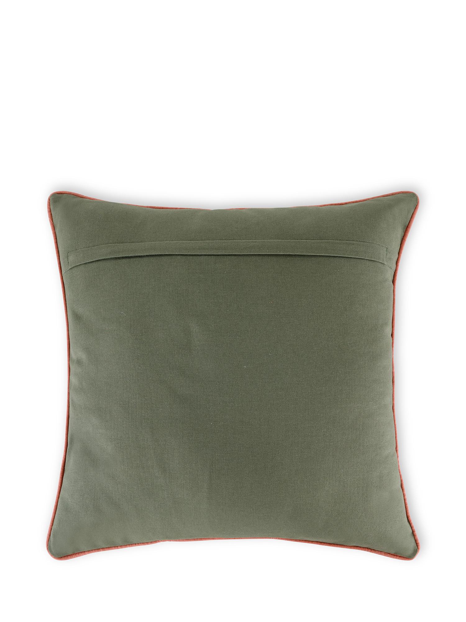 Cuscino cotone ricamo ramage 45x45cm, Multicolor, large image number 1