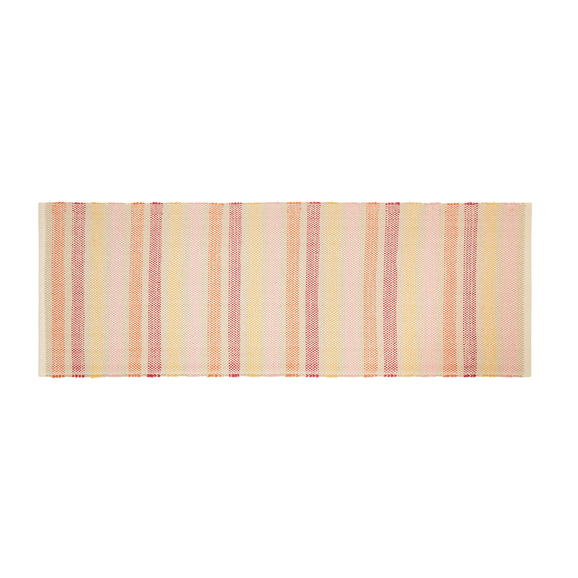 Tappeto da cucina puro cotone a righe, Multicolor, large image number 0