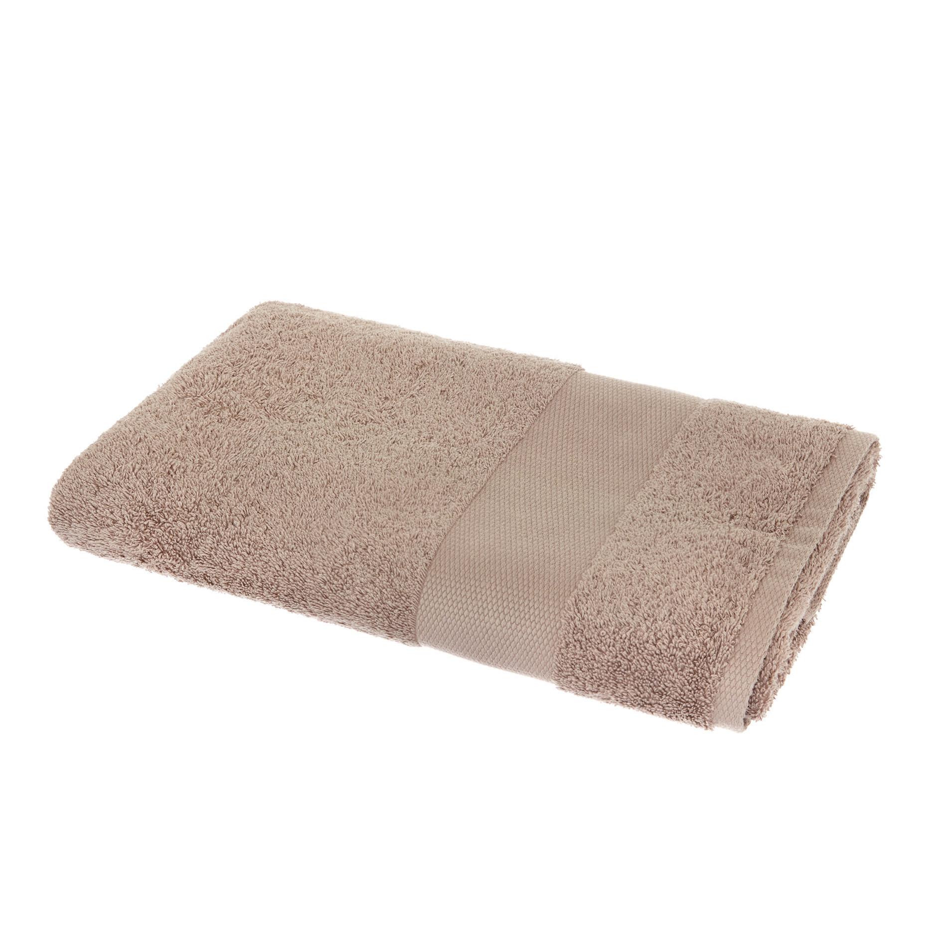 Asciugamano spugna di puro cotone Zefiro, Marrone, large image number 1