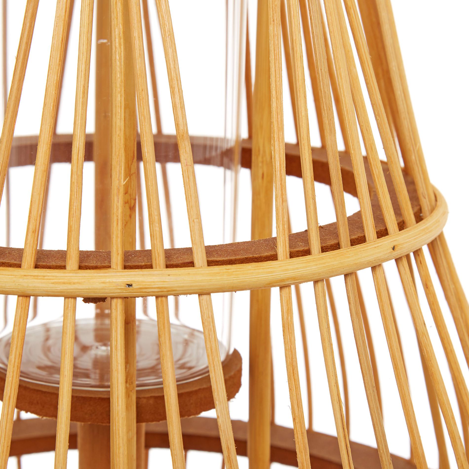 Lanterna bamboo intrecciato a mano, Trasparente, large image number 1