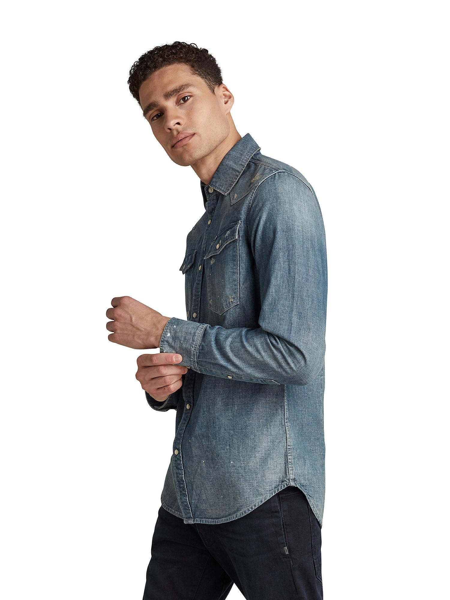 Camicia Chambray slim, Denim, large image number 1