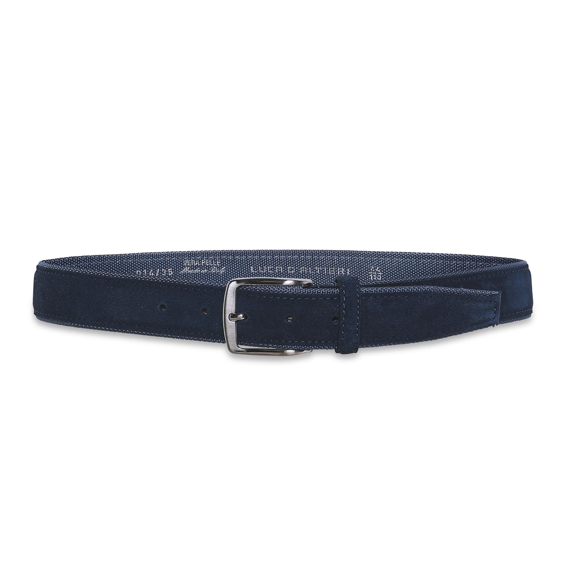 Cintura misto pelle Luca D'Altieri, Blu scuro, large image number 1