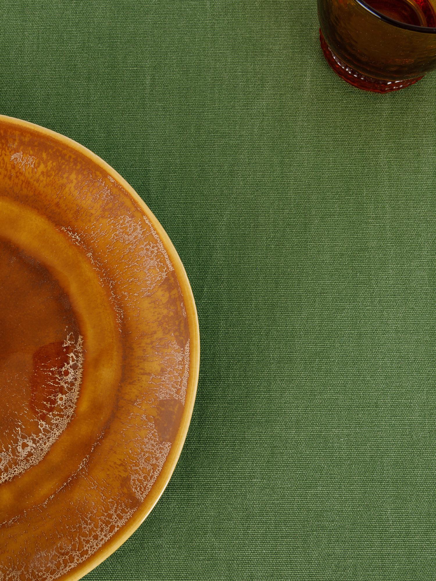 Runner puro cotone garment washed, Verde, large image number 2