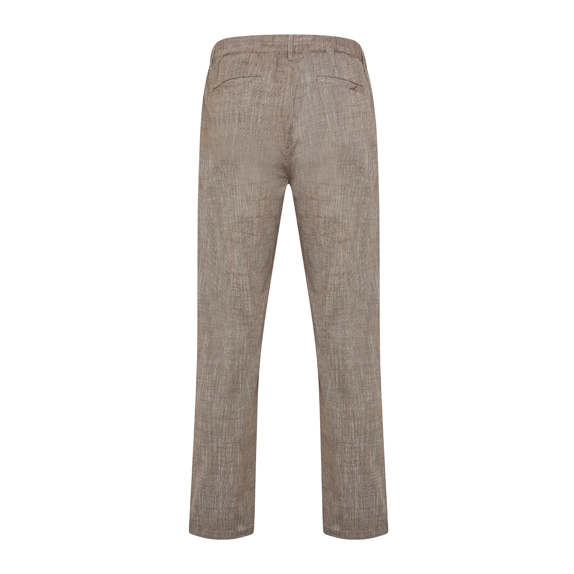 Pantalone puro cotone light JCT, Beige, large image number 1