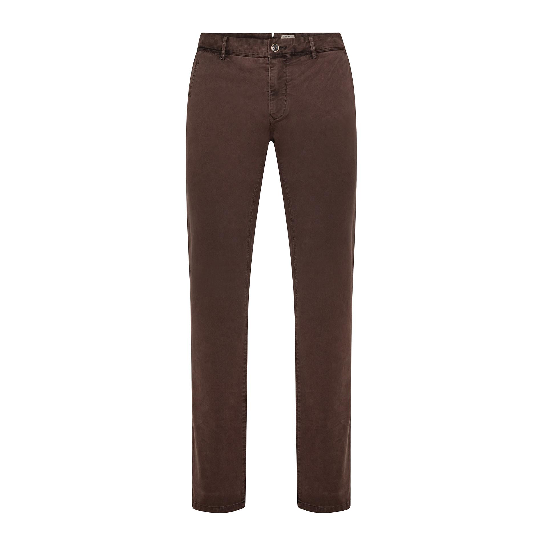 Pantaloni chino in tessuto stretch, Marrone, large image number 0
