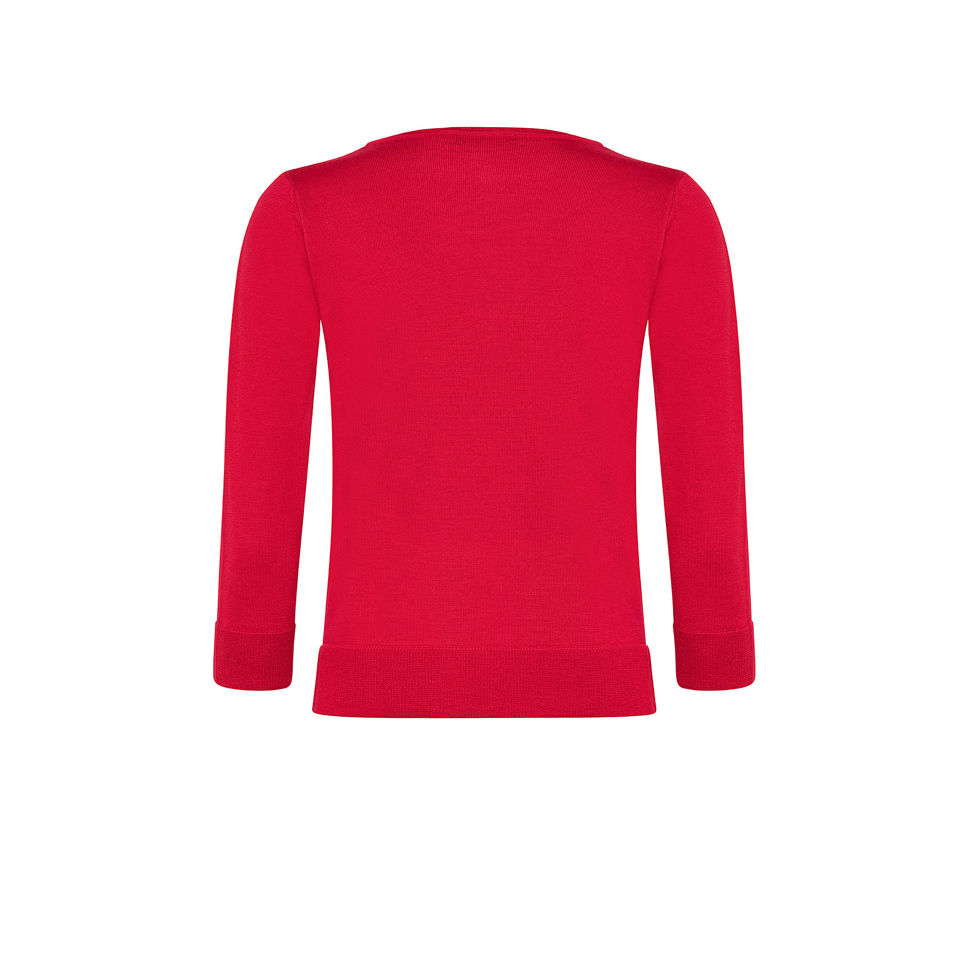 Pullover lana merinos tinta unita, , large image number 1