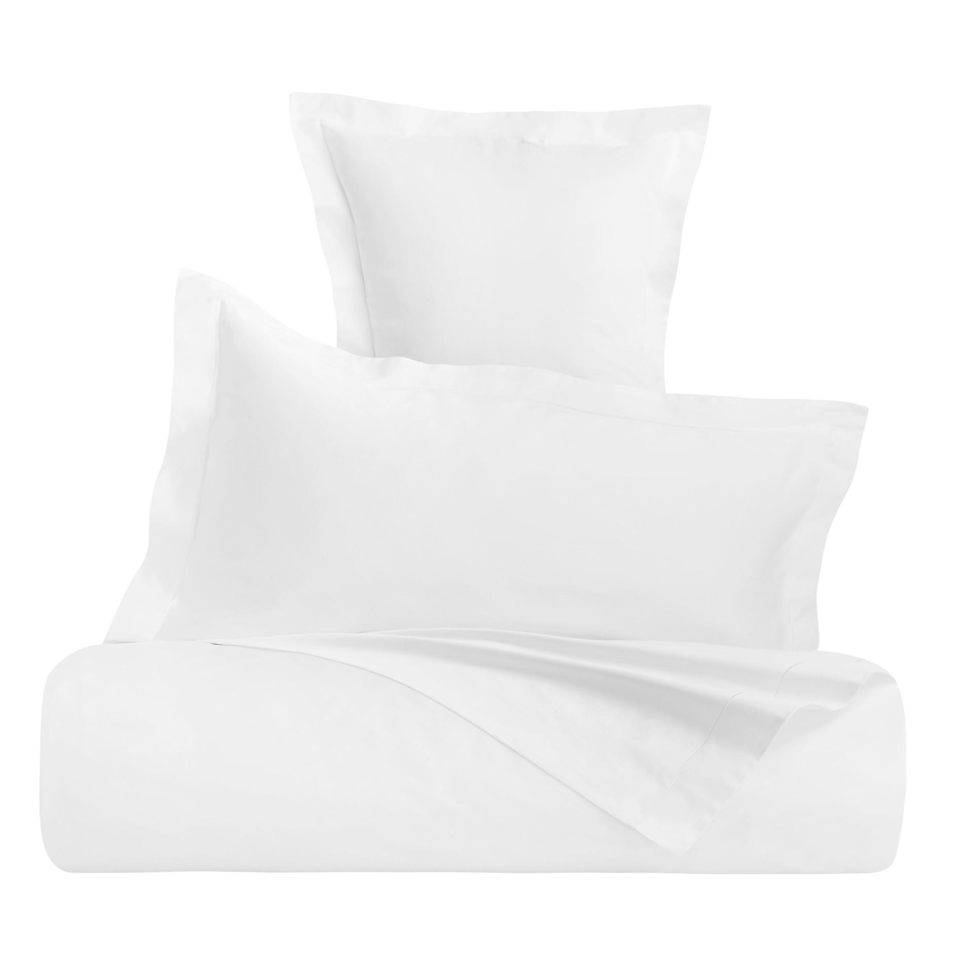 Lenzuolo liscio raso alta qualità Interno 11, Bianco, large image number 0