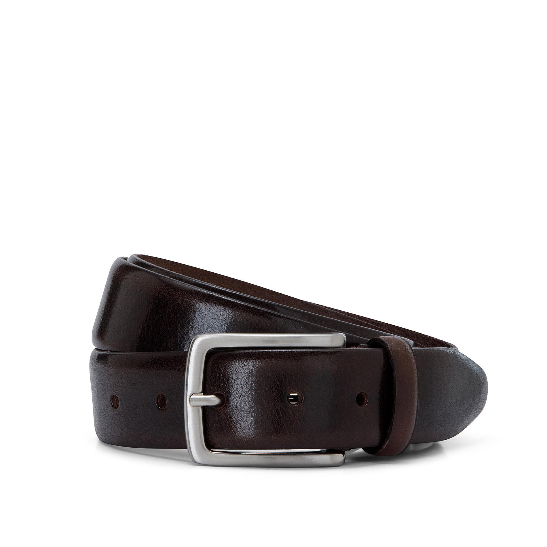 Cintura vera pelle Luca D'Altieri, Marrone scuro, large image number 0