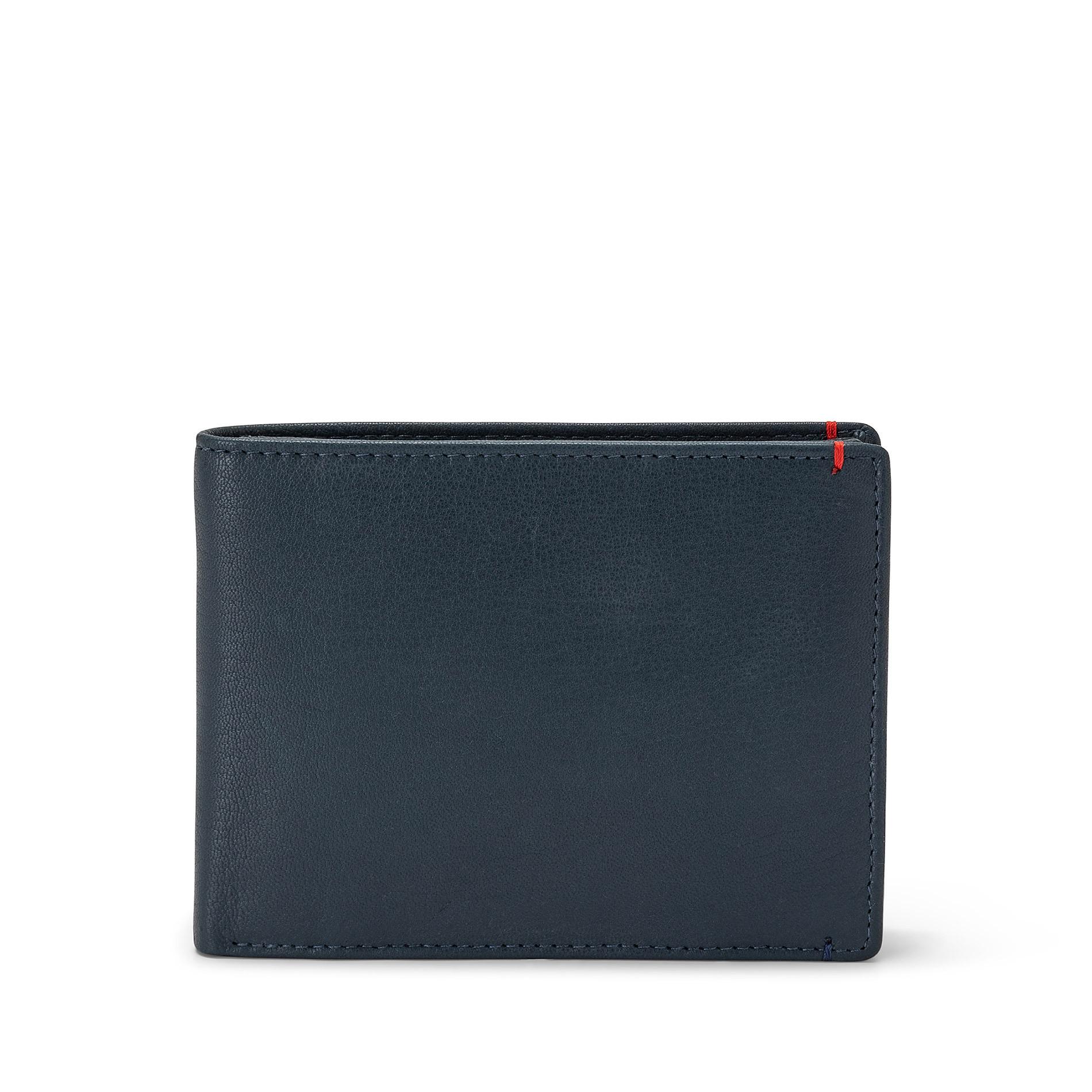 Portafoglio in pelle Luca D'Altieri, Blu scuro, large image number 0