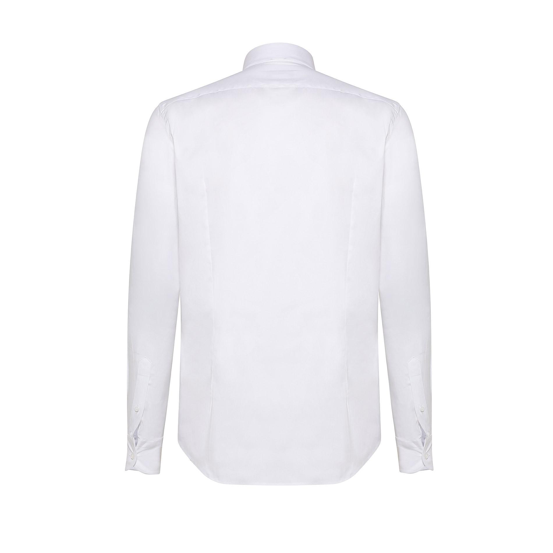 Camicia button-down popeline di cotone, Bianco, large image number 1