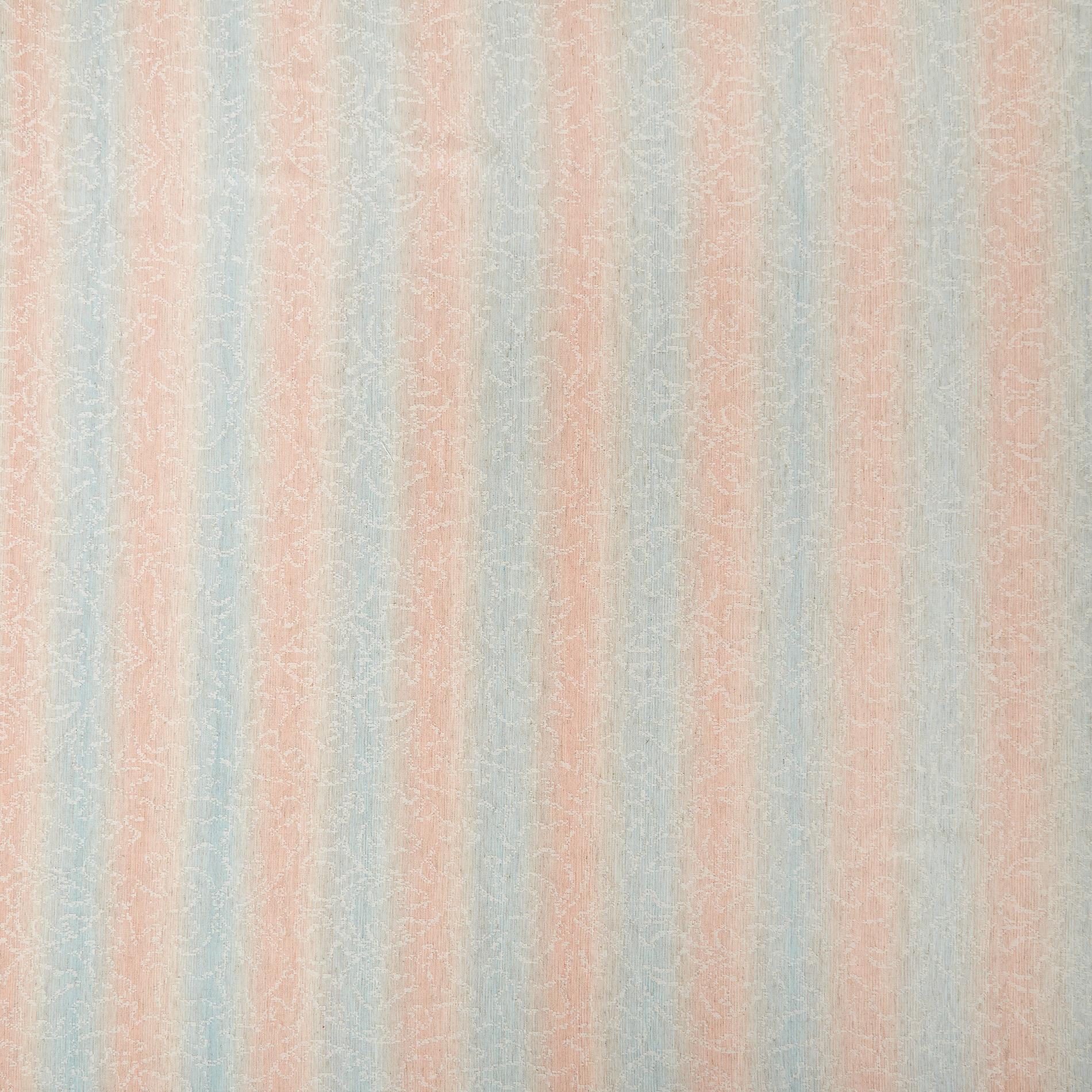 Tovaglia misto cotone stonewashed motivo a righe, Azzurro, large image number 1