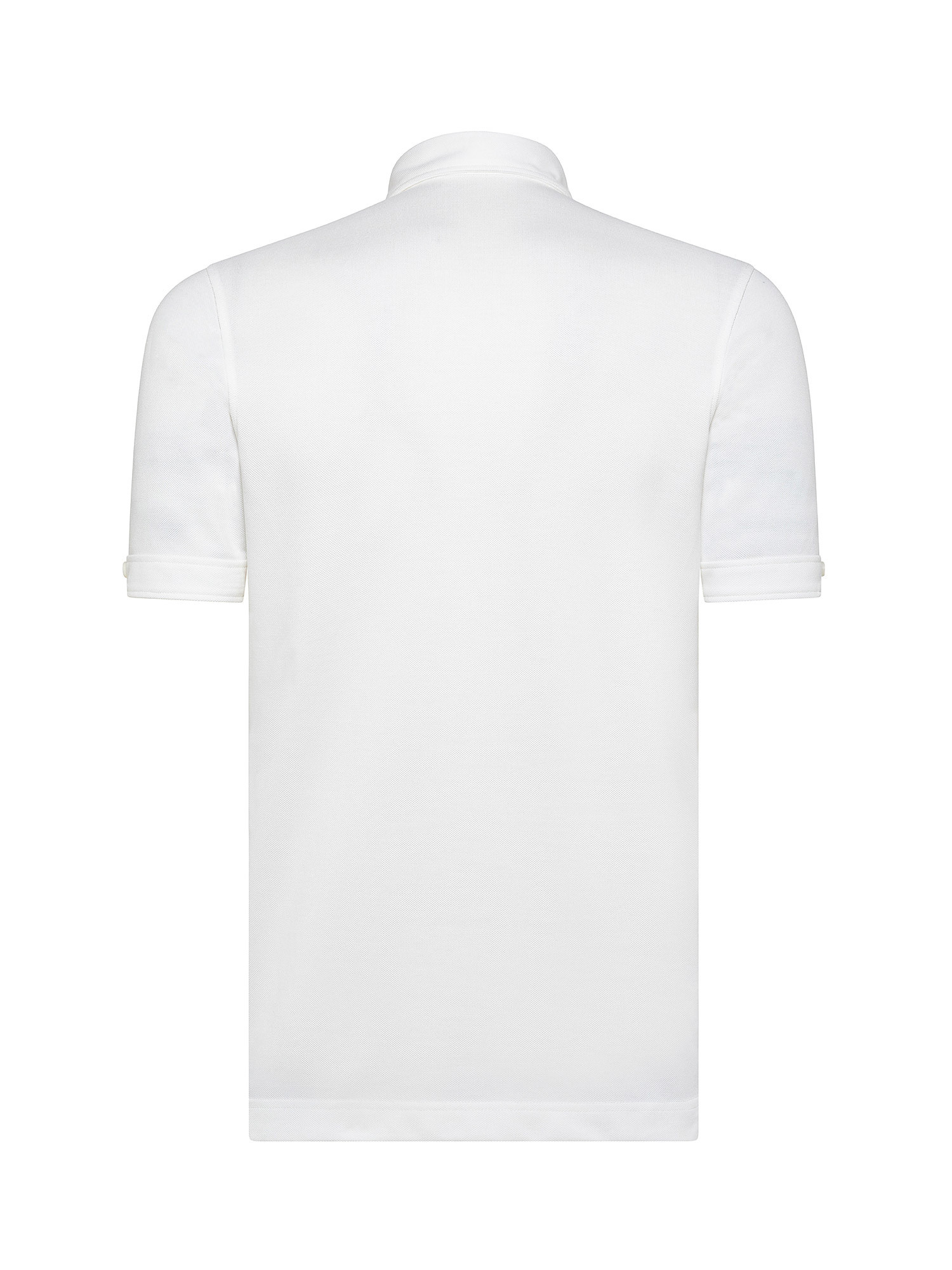 Polo con collo button down, Bianco, large image number 1