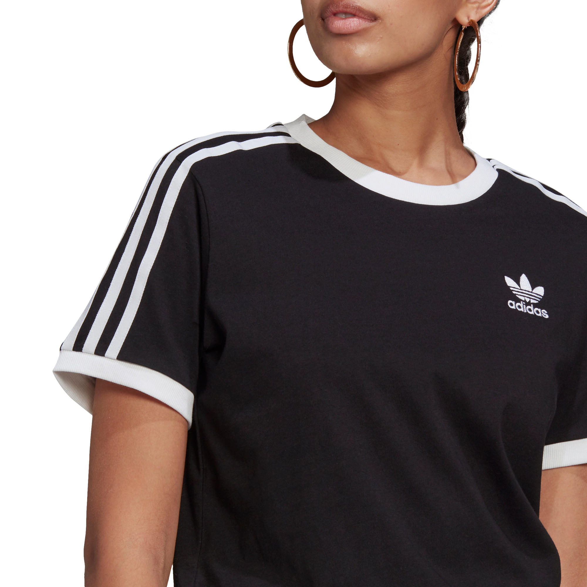 T-shirt adicolor Classics 3-stripes, Nero, large image number 5