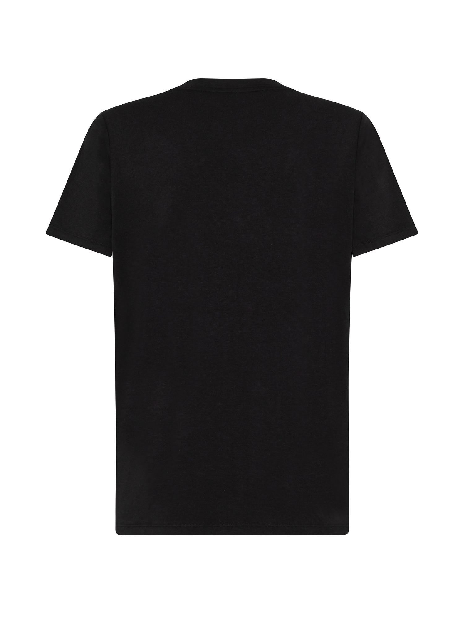 T-shirt con stripe logo, Nero, large image number 1