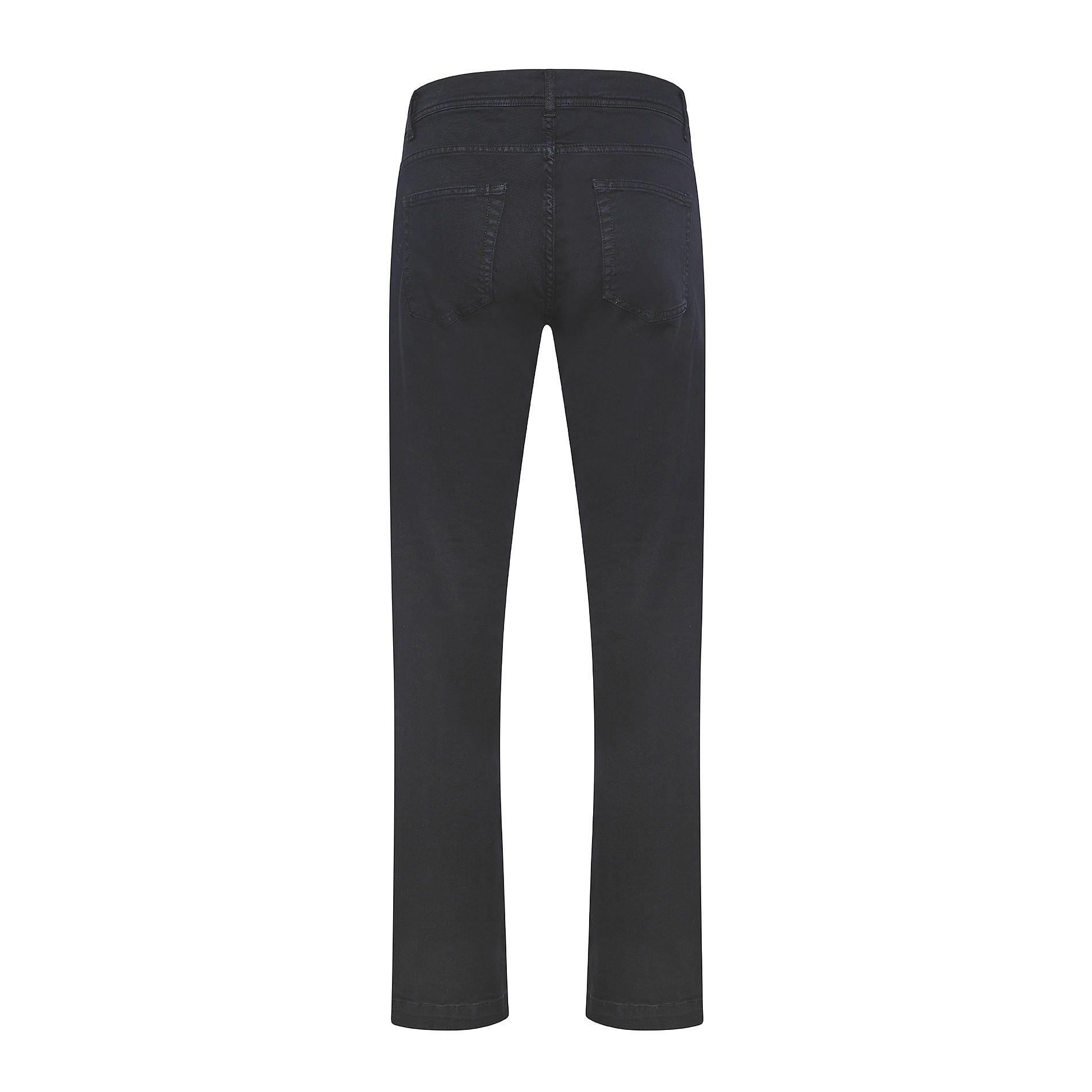Pantalone cotone stretch 5 tasche JCT, Blu scuro, large image number 1