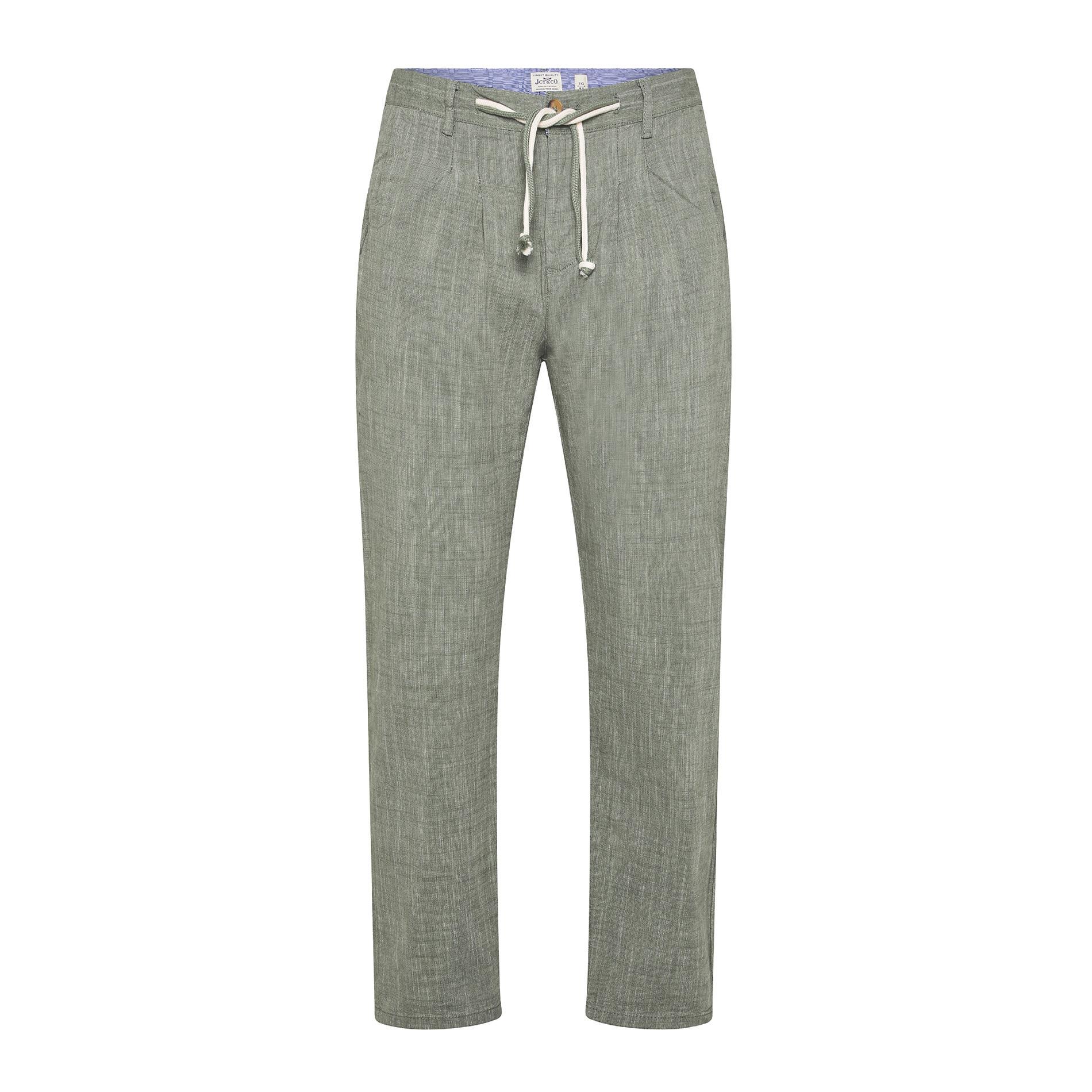 Pantalone puro cotone light JCT, Verde chiaro, large image number 0