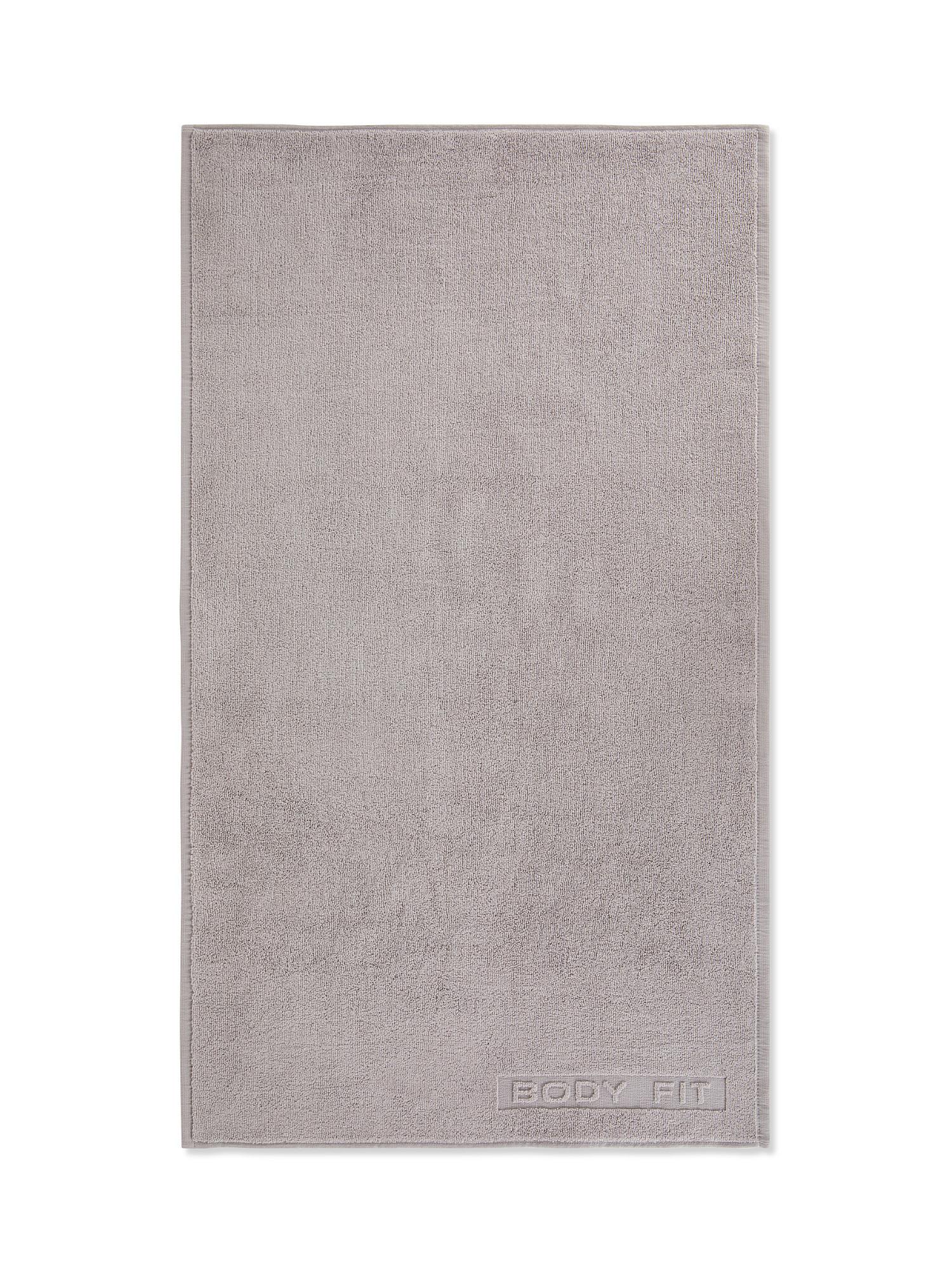 Asciugamano capelli spugna di cotone tinta unita, Grigio, large image number 1