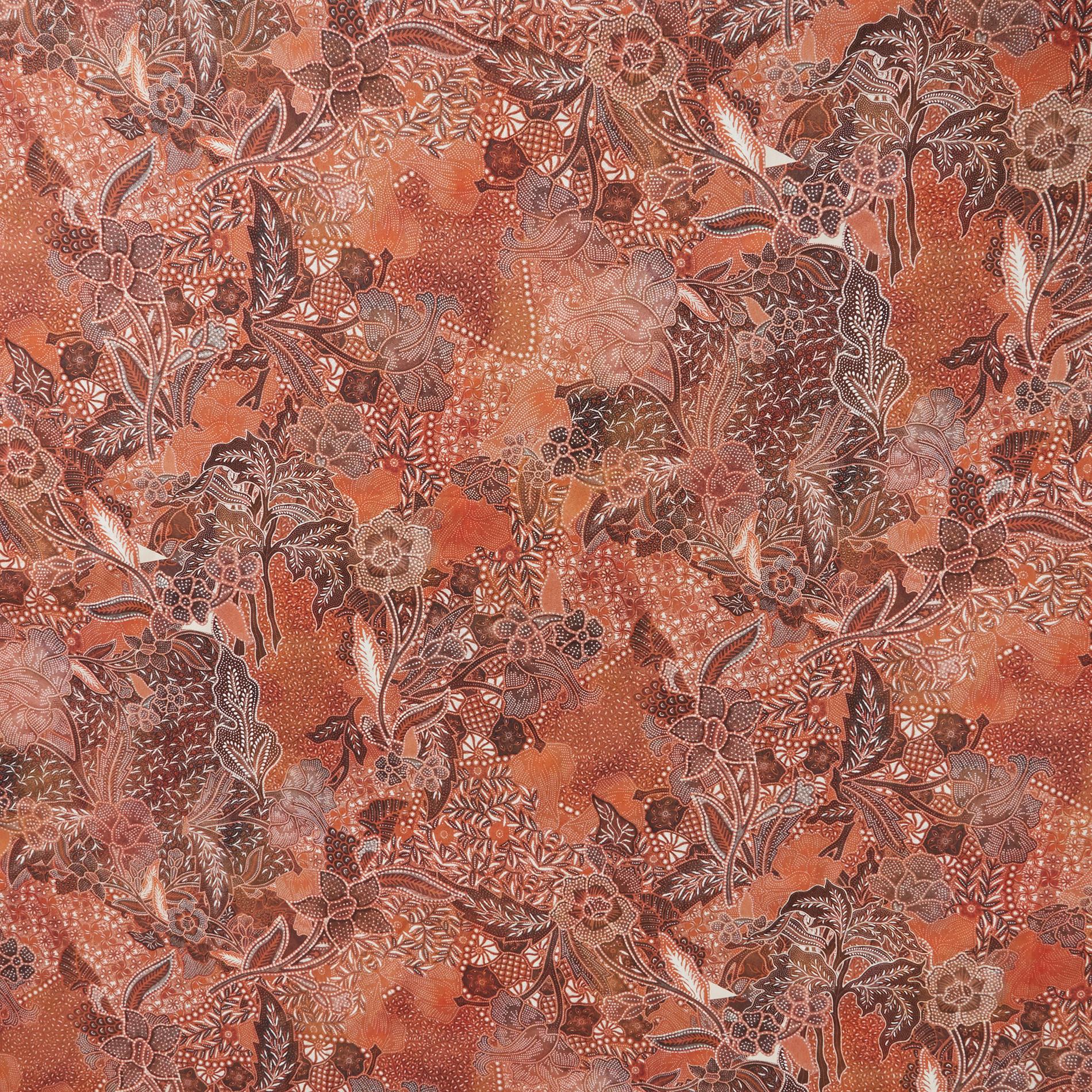 Tovaglia puro cotone stampa foulard, Arancione, large image number 1