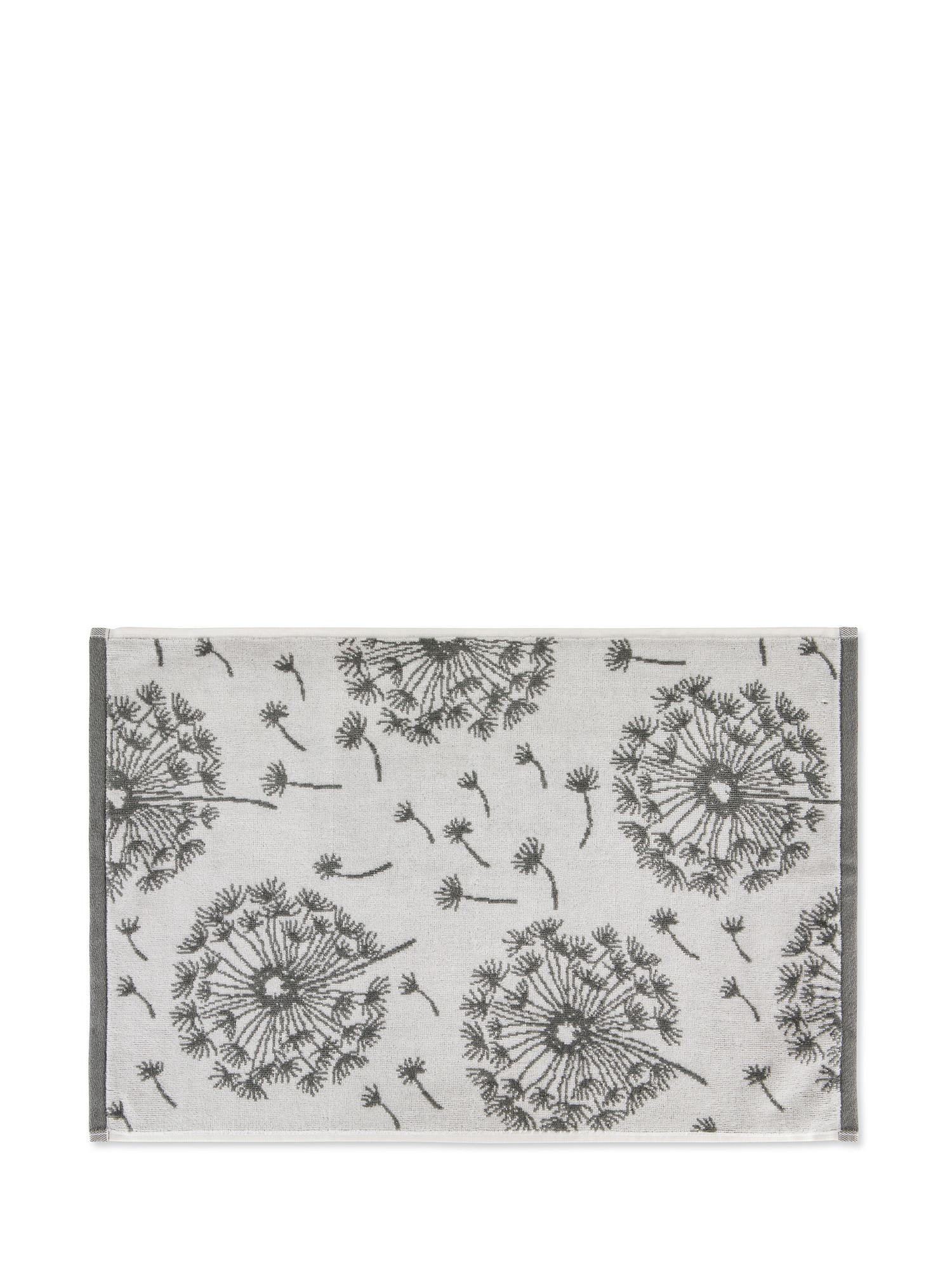 Asciugamano cotone velour motivo soffioni, Grigio, large image number 1