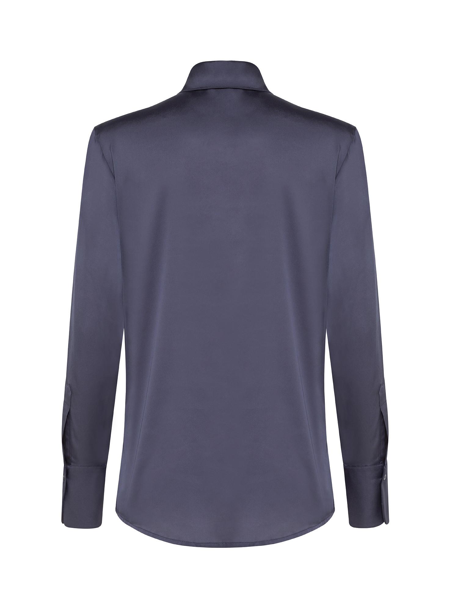 Camicia in viscosa seta stretch, Grigio, large image number 1