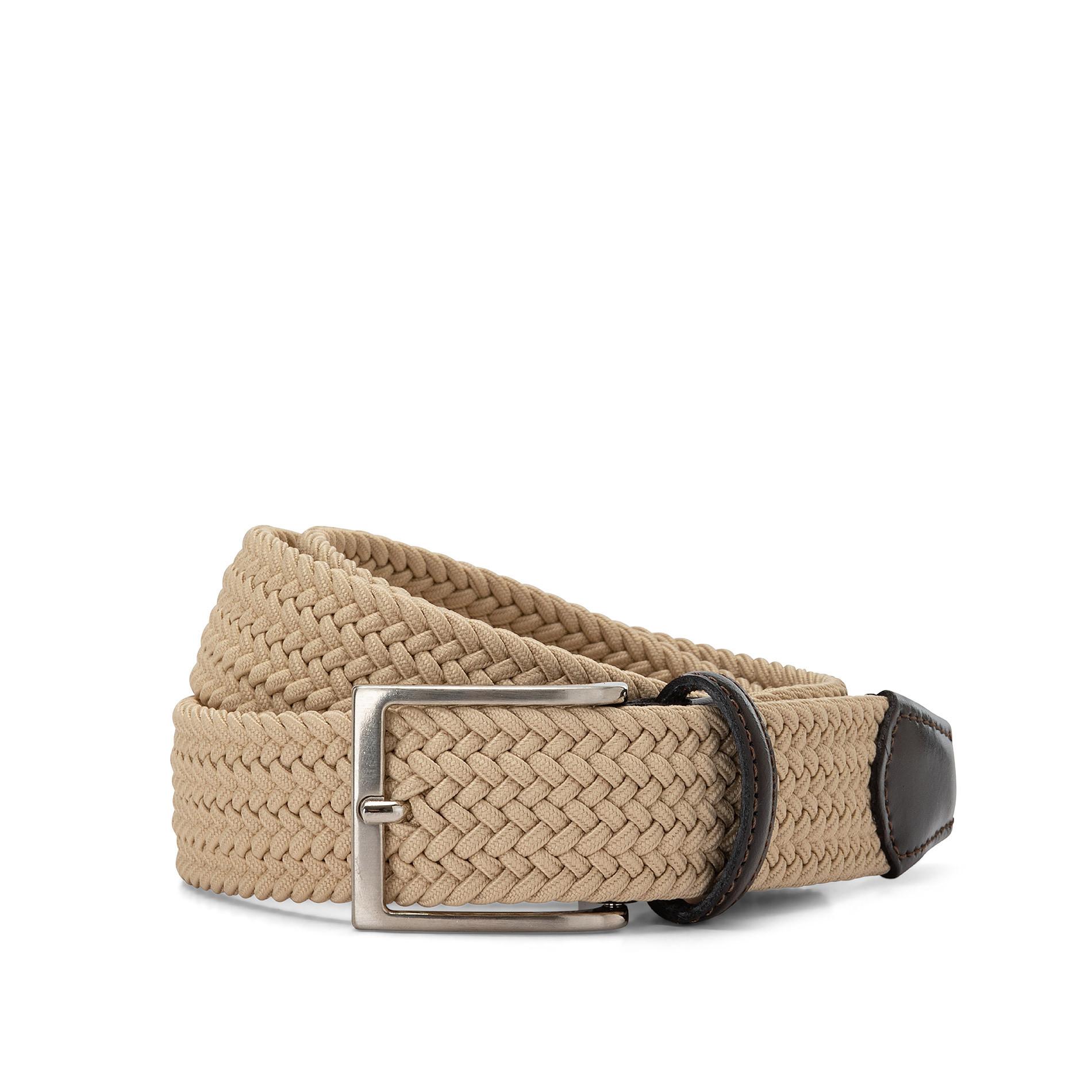 Cintura elasticizzata tinta unita Luca D'Altieri, Beige, large image number 0