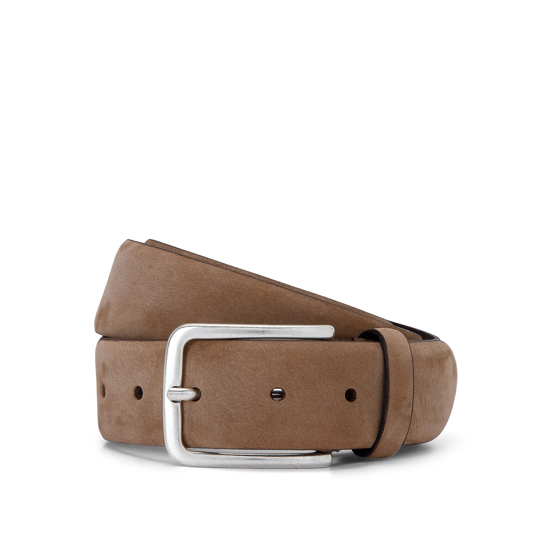 Cintura vera pelle Luca D'Altieri, Beige scuro, large image number 0