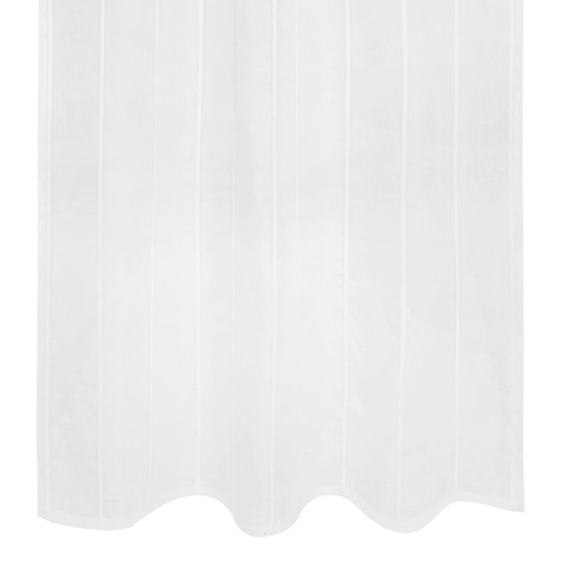 Tenda misto lino con applicazioni, Bianco, large image number 1