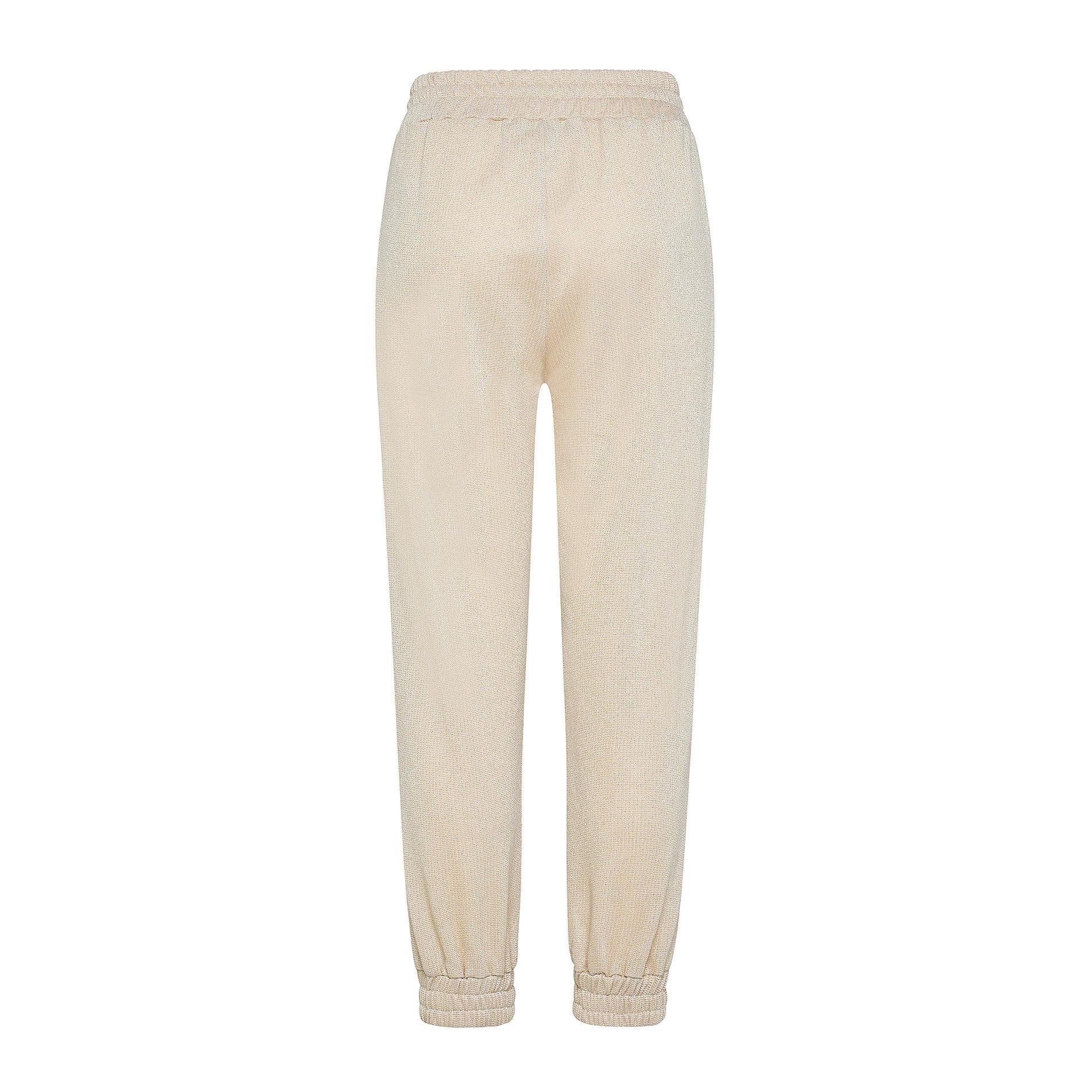 Pantalone tessuto leggero lurex Koan, Beige chiaro, large image number 1