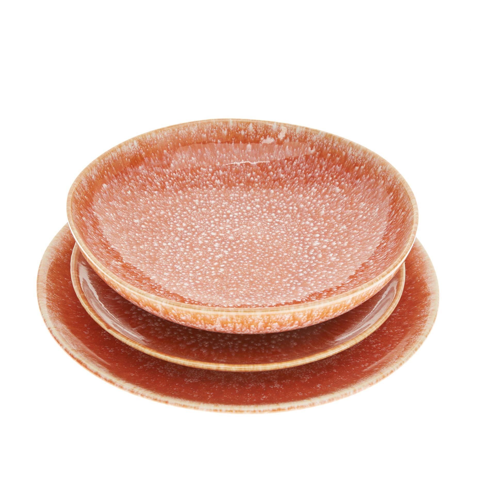 Piatto piano ceramica Orange, Arancione, large image number 1
