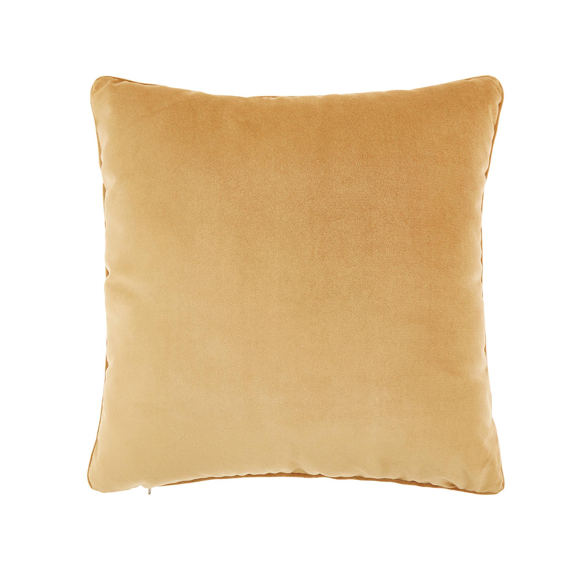 Cuscino velluto effetto seta tinta unita, Giallo oro, large image number 0